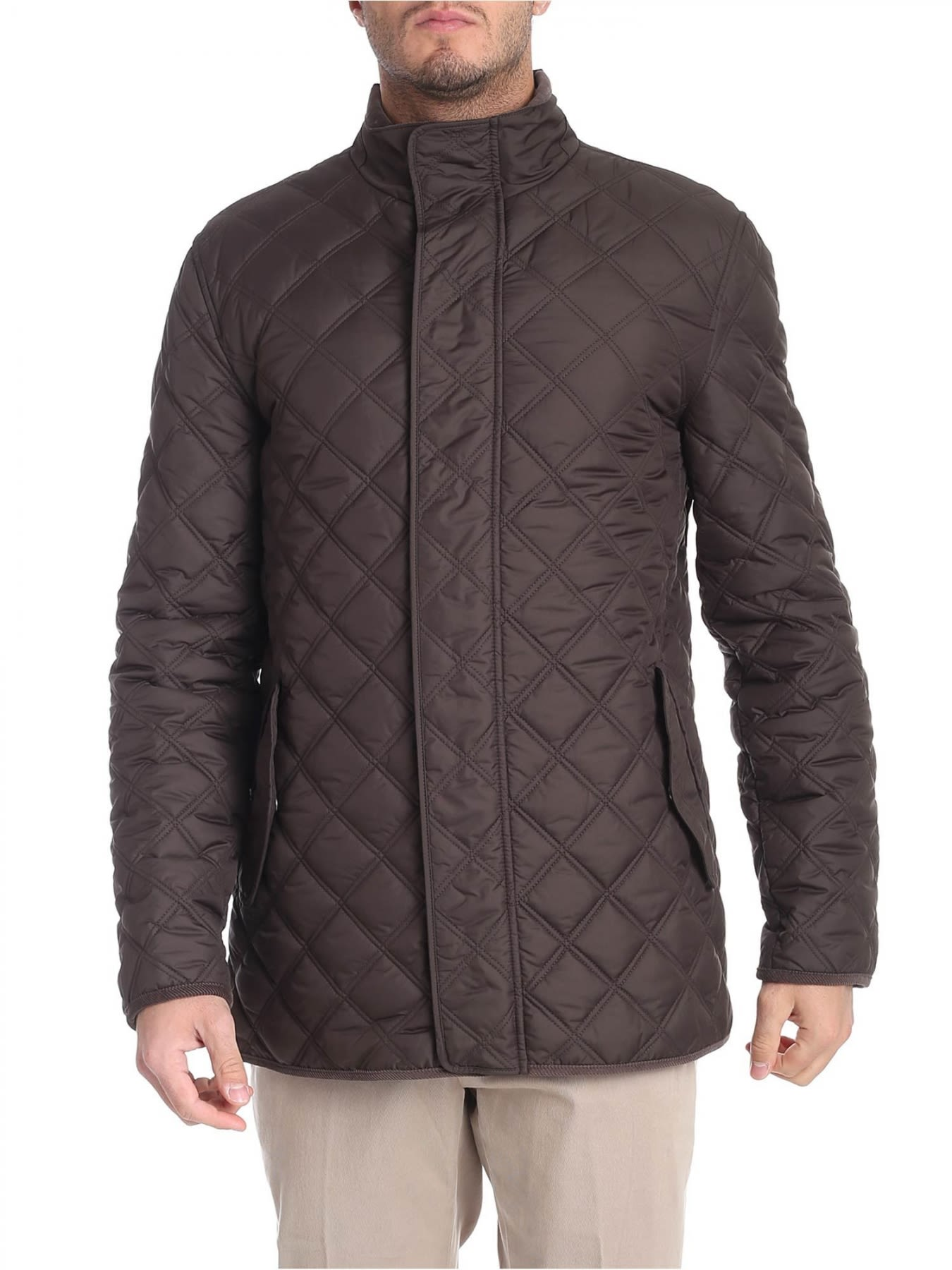 BROOKS BROTHERS Padded Jacket in Brown