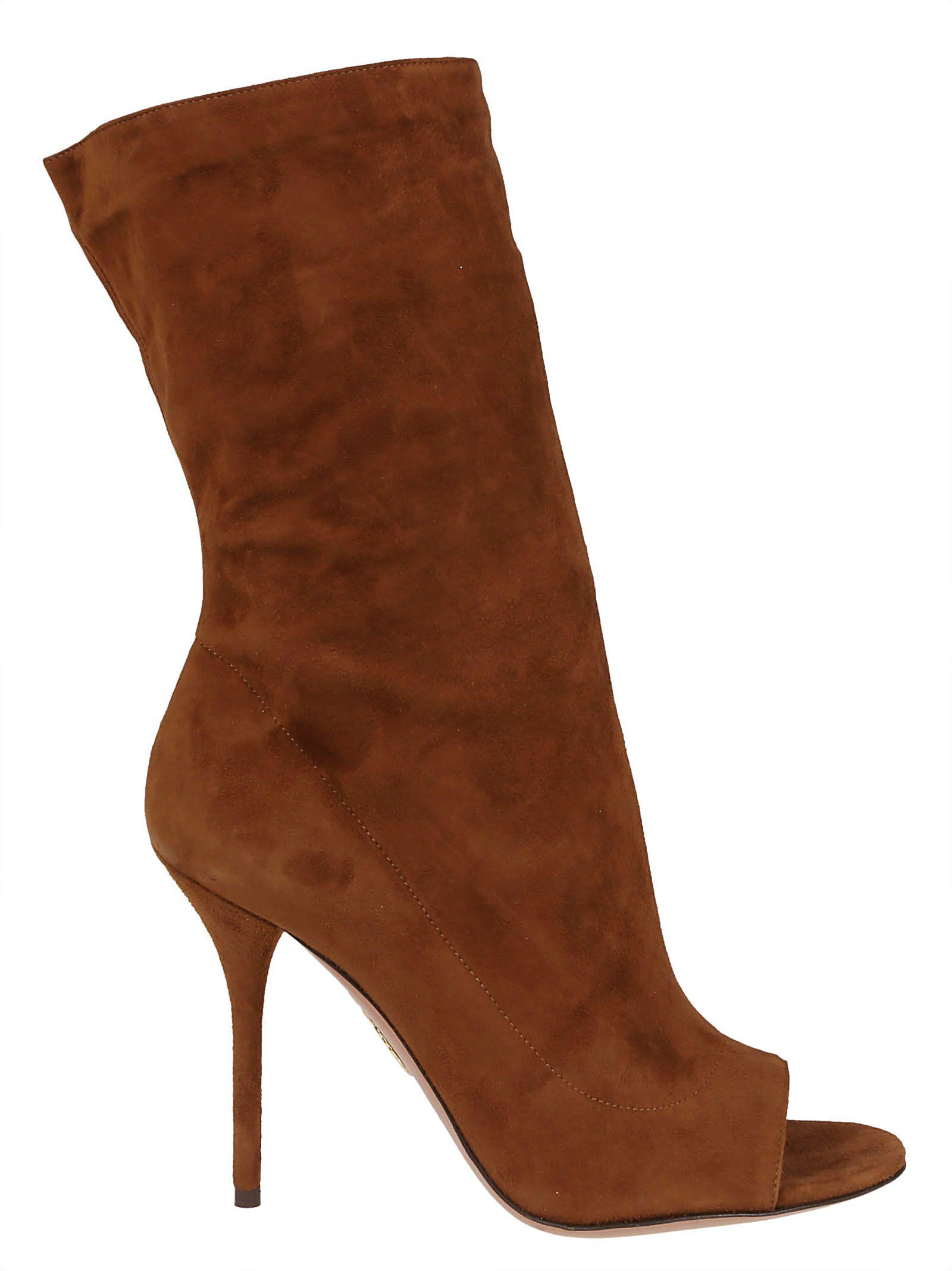 Touche Open Toe Boots, Cinnamon