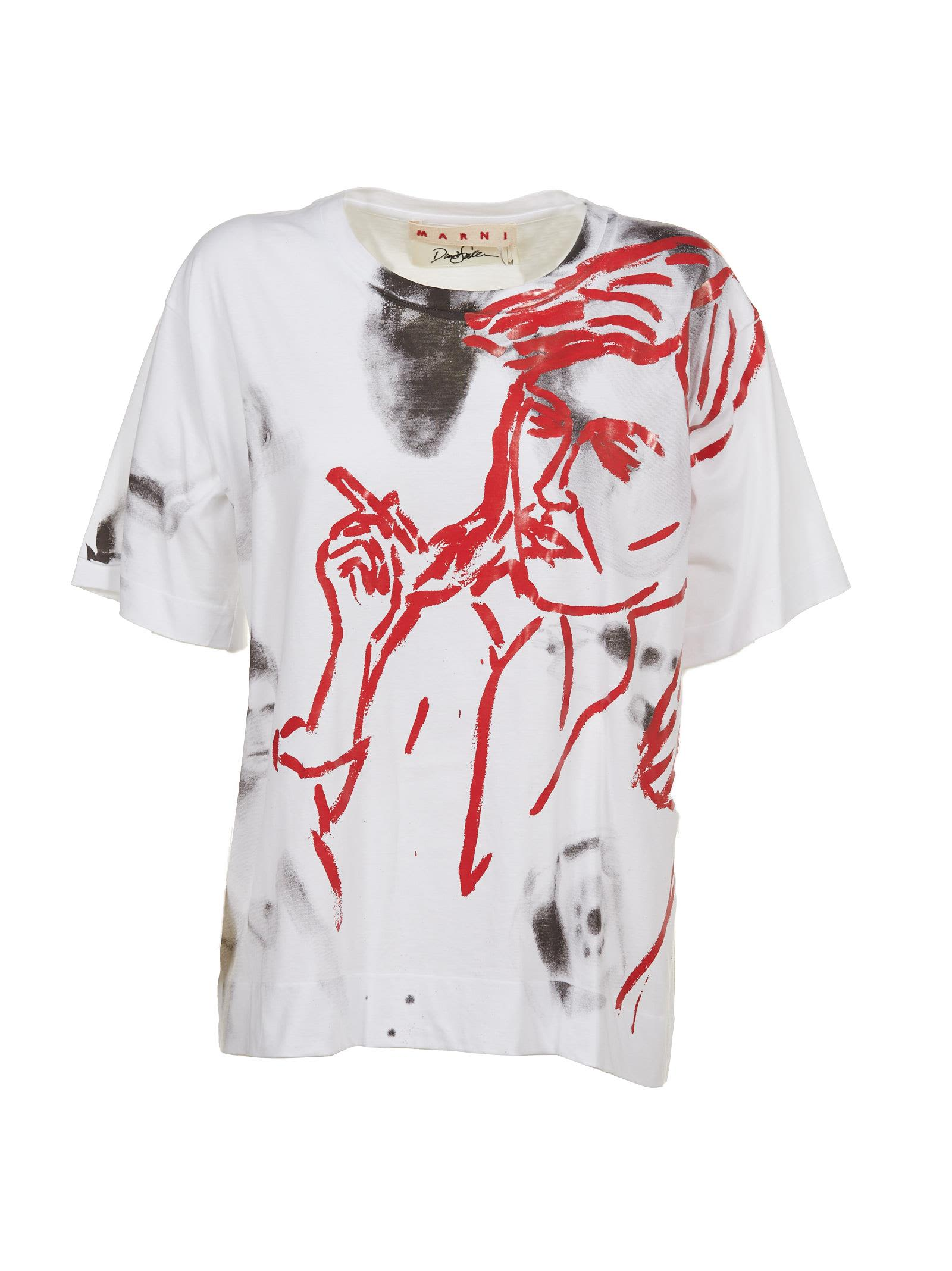 Marni painted T-shirt Cheap Sale Brand New Unisex Buy Cheap Best Wholesale Cheap Sale Footlocker Finishline Cheap With Credit Card FvmhA