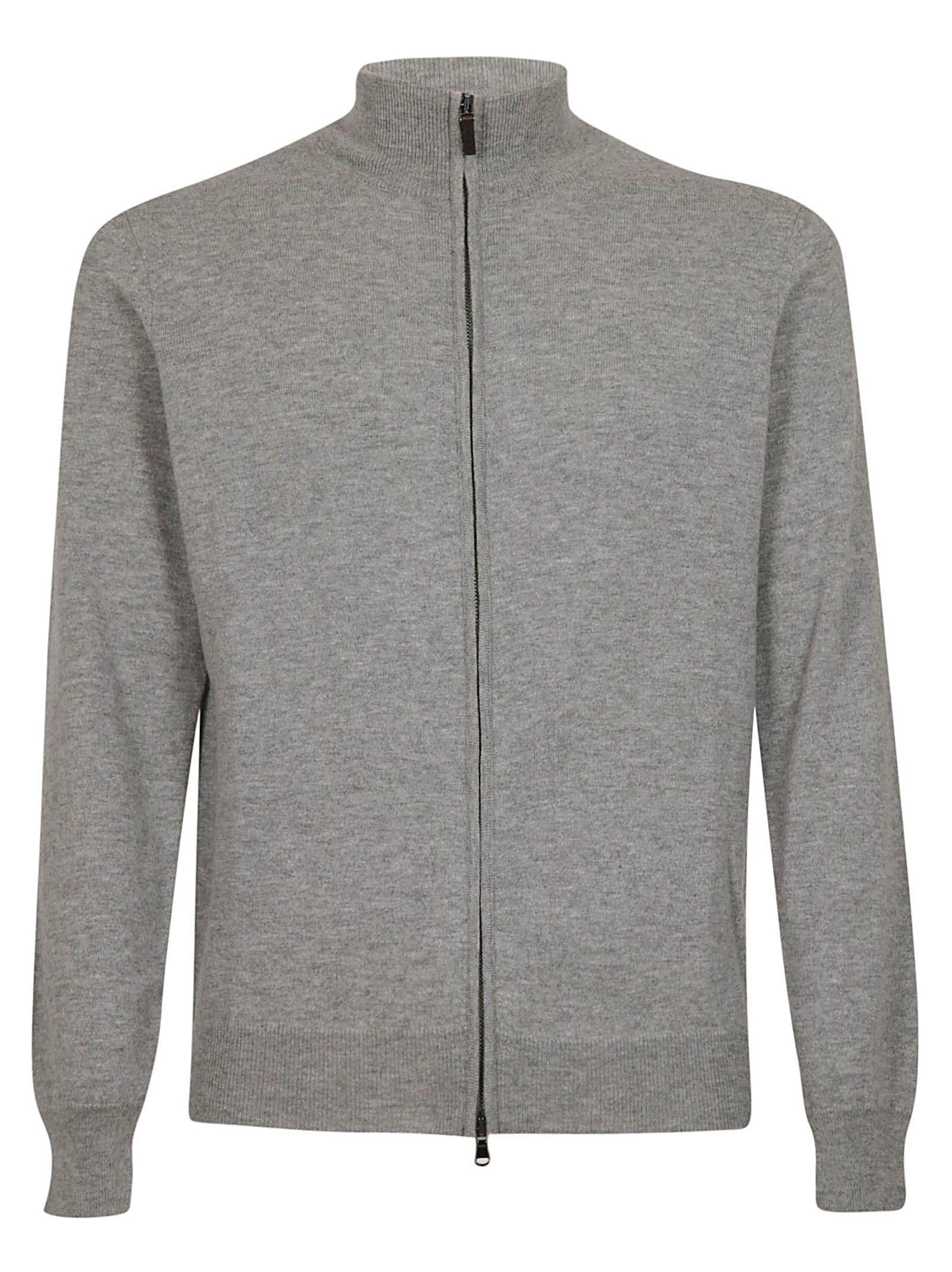 KANGRA Zipped Jacket in Grigio Chiaro