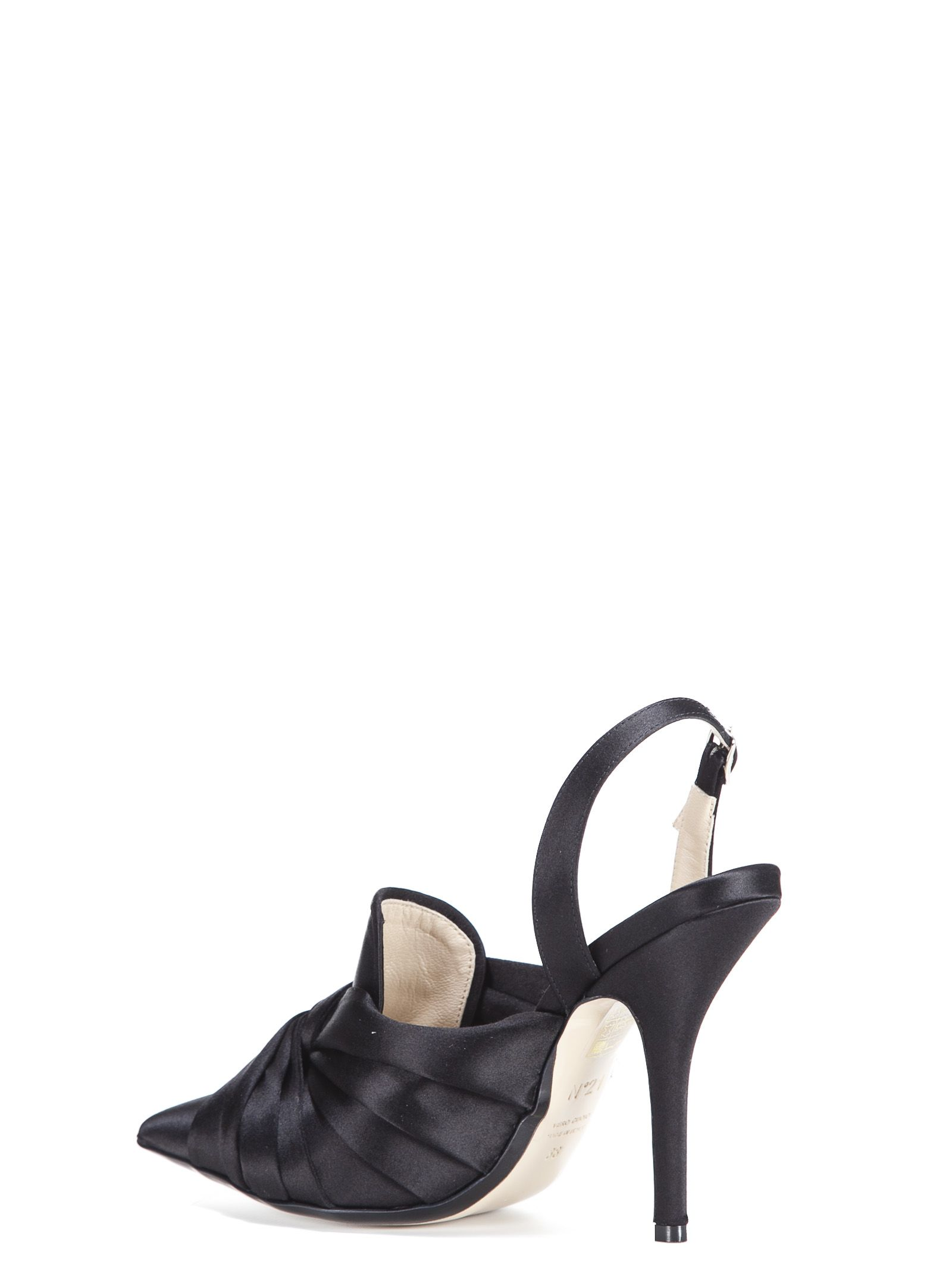 slingback twisted detail pumps - Black N��21