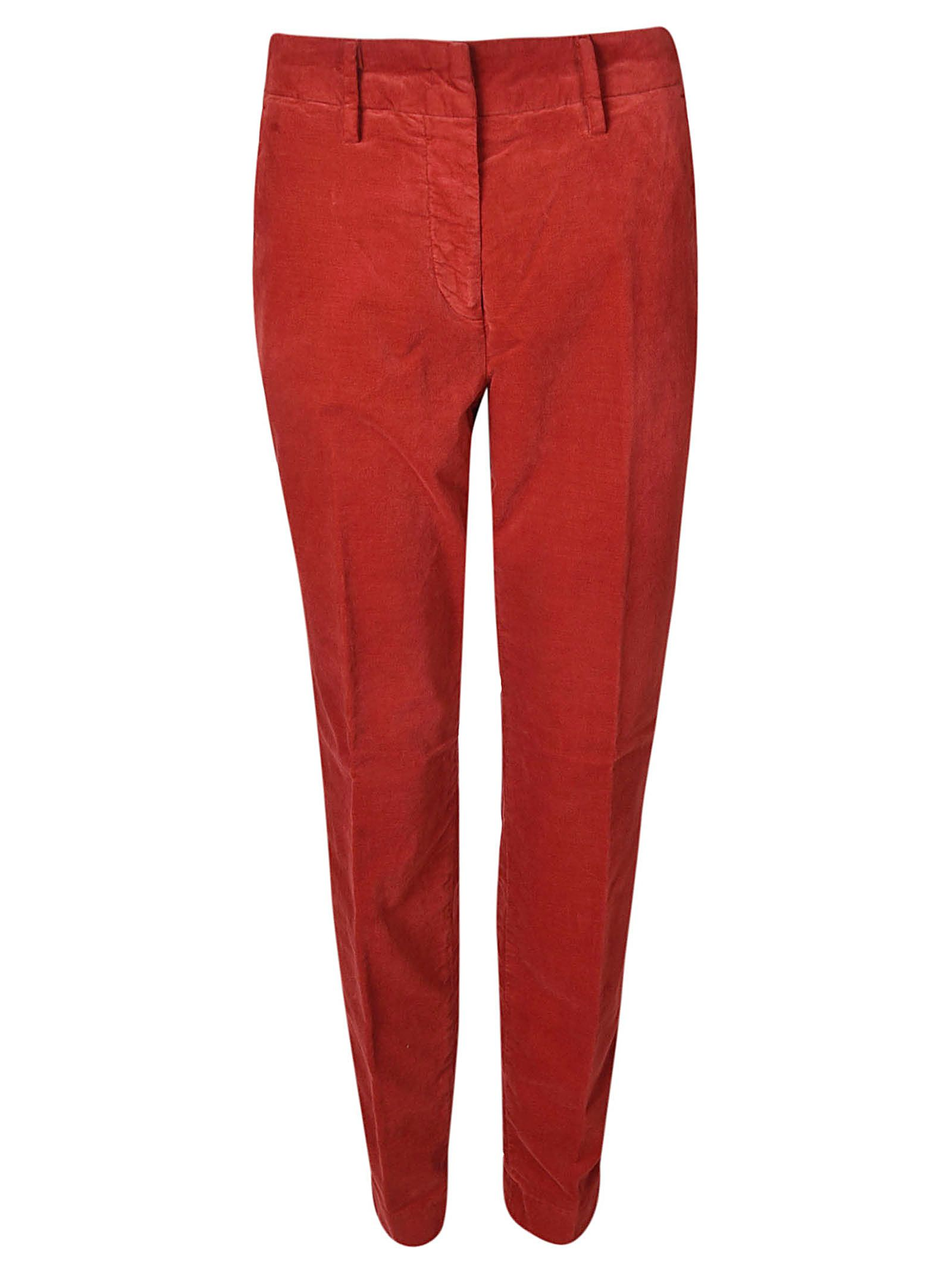 MASON'S Chino Trousers in Red