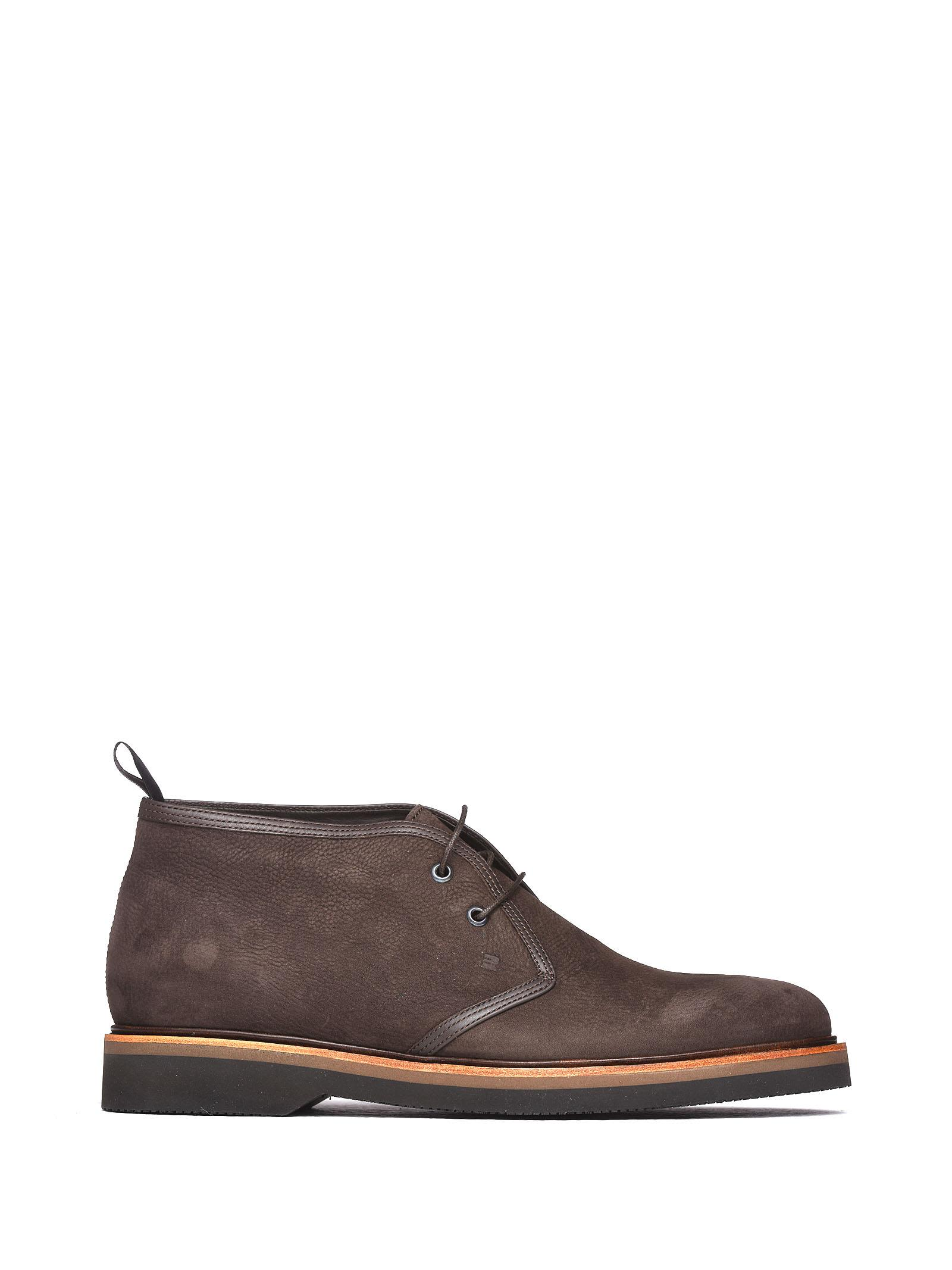 FRATELLI ROSSETTI ONE Desert Boot In Brown Nabuk in Ebano