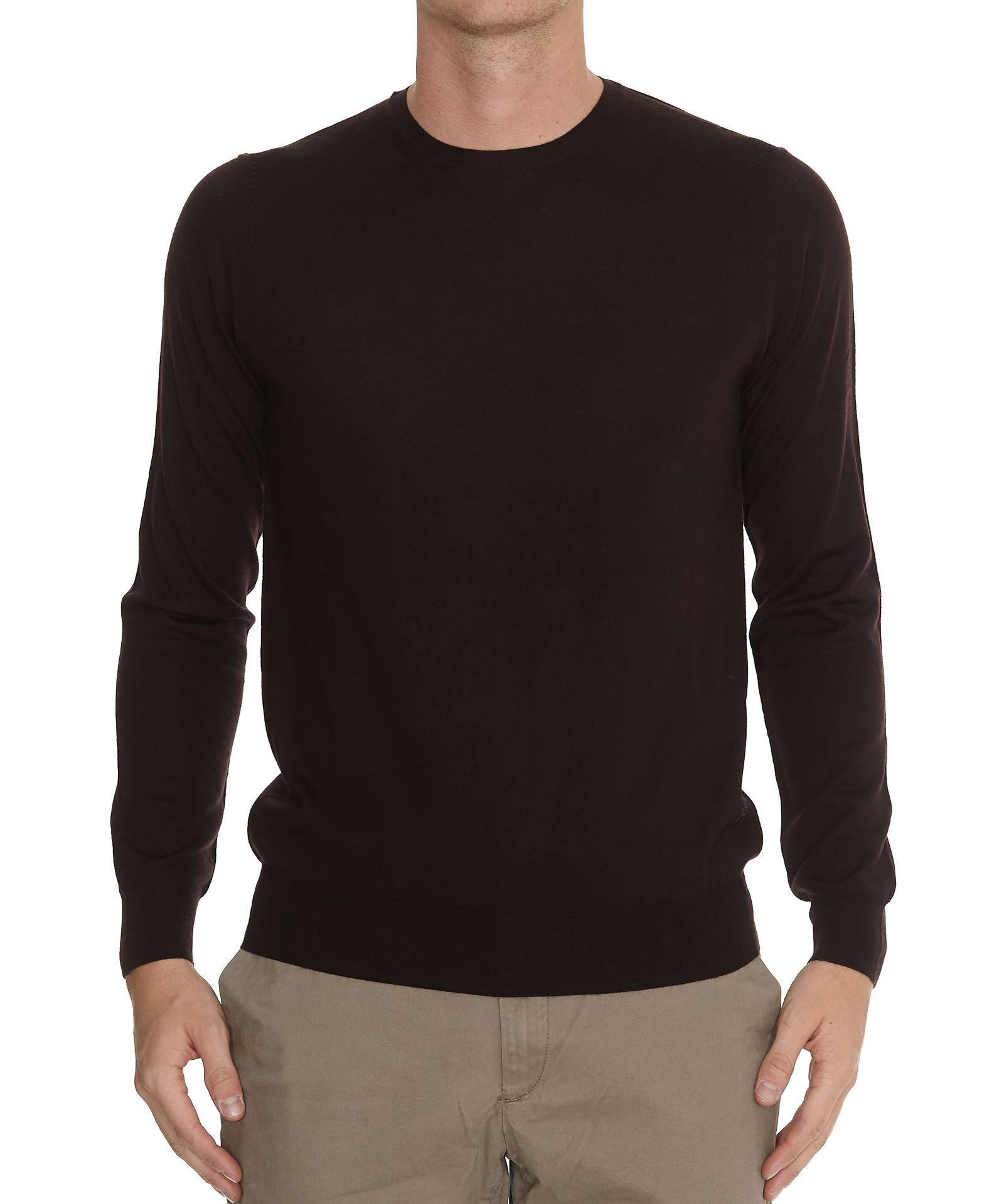HŌSIO Crew Neck Sweater in Bordeaux