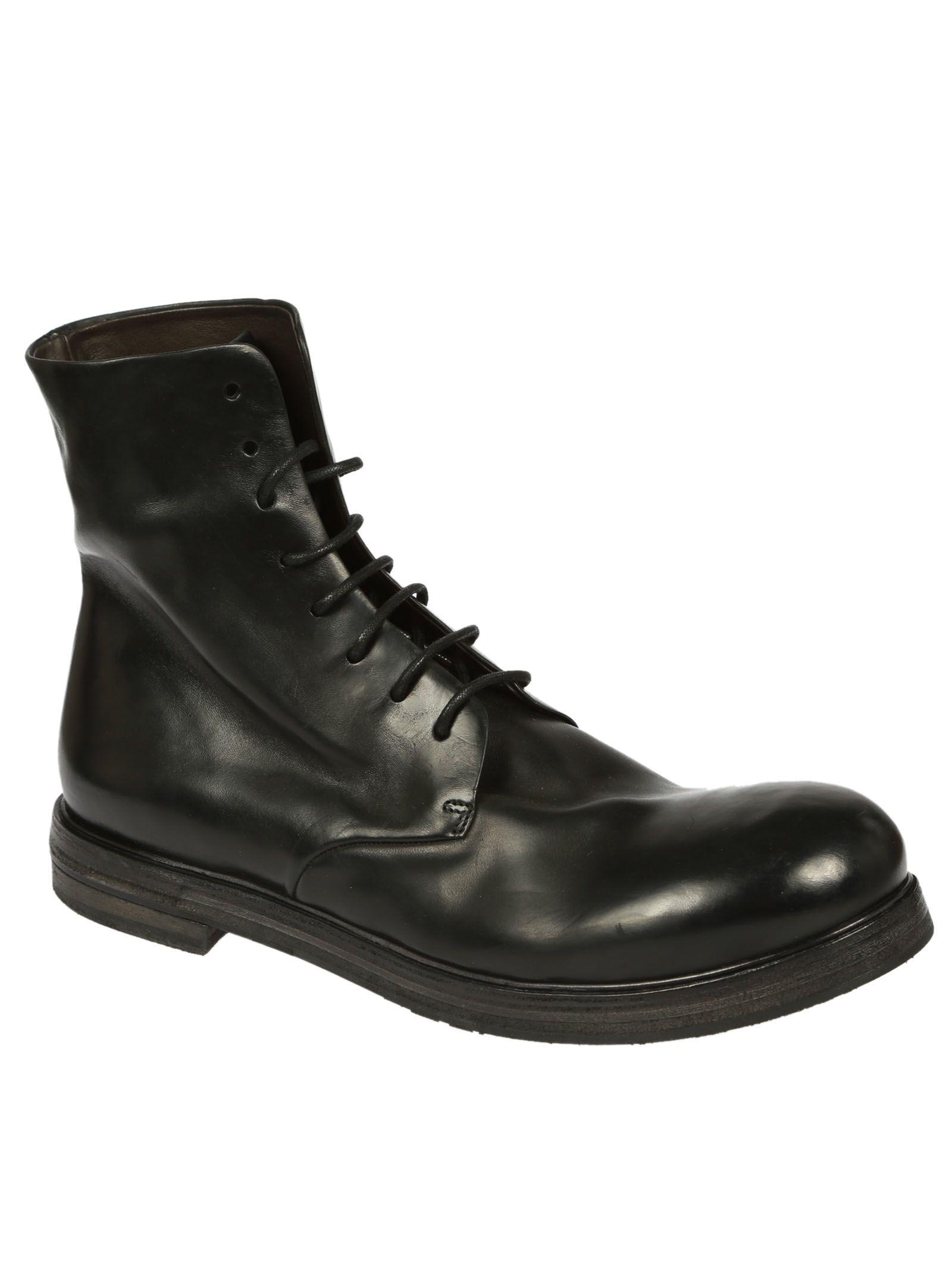 Womens Distressed Leather Combat Boots Mars��ll t0zSBdb11