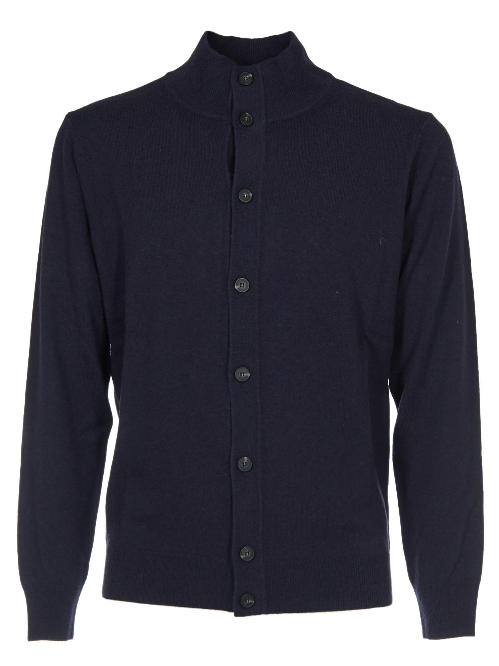 KANGRA Button-Up Cardigan in Blue