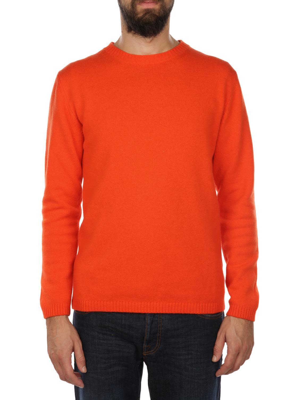 DANIELE FIESOLI Extrafine Merinos Wool Sweater in Orange