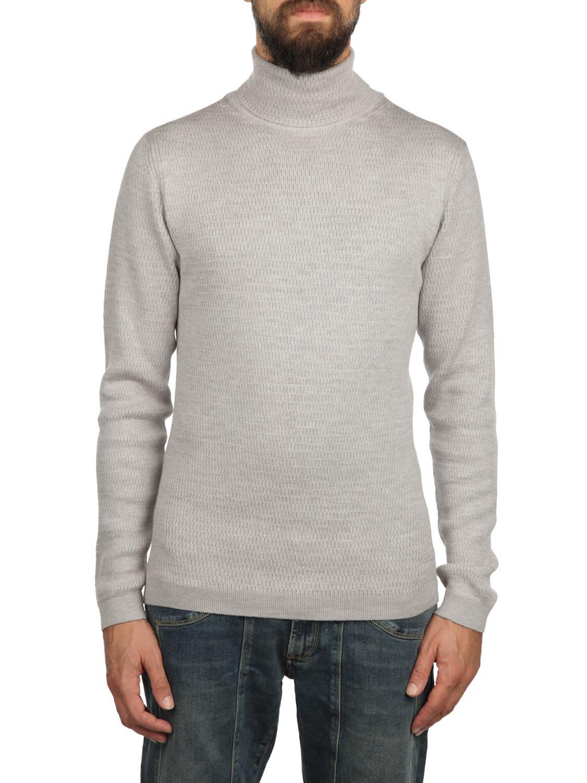 DANIELE FIESOLI Merinos Wool Turtle-Neck Sweater in Grey