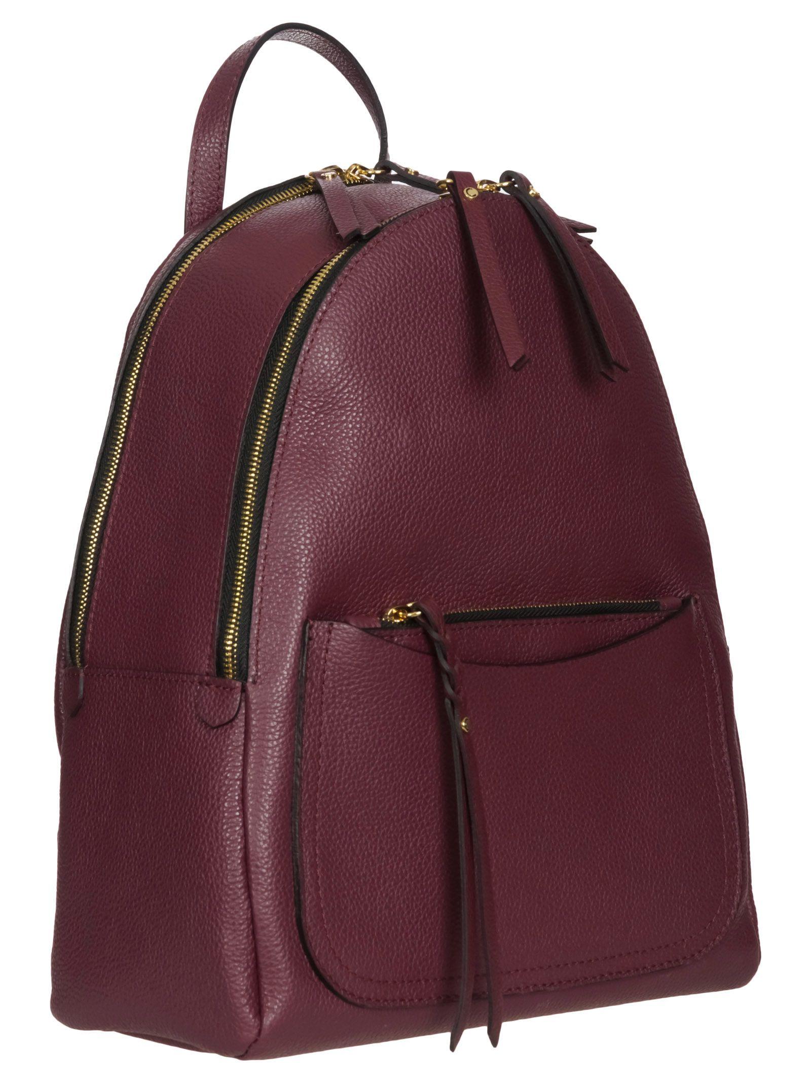 GIANNI CHIARINI Merlot Leather Backpack