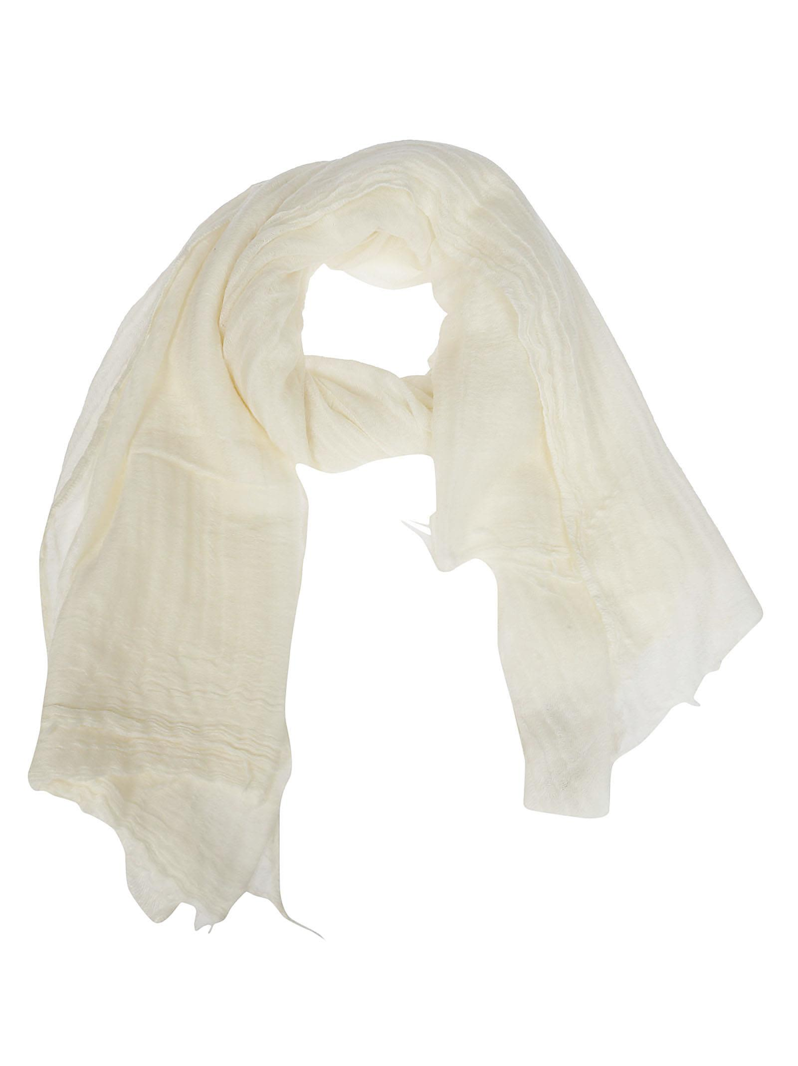 DESTIN SURL Destin Pleated Scarf in White