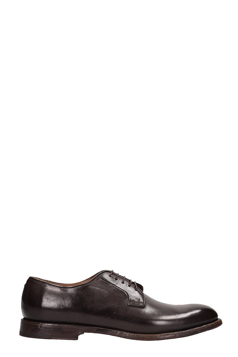 FRANCESCHETTI Lace-Up Shoes In Brown Brushed Leather