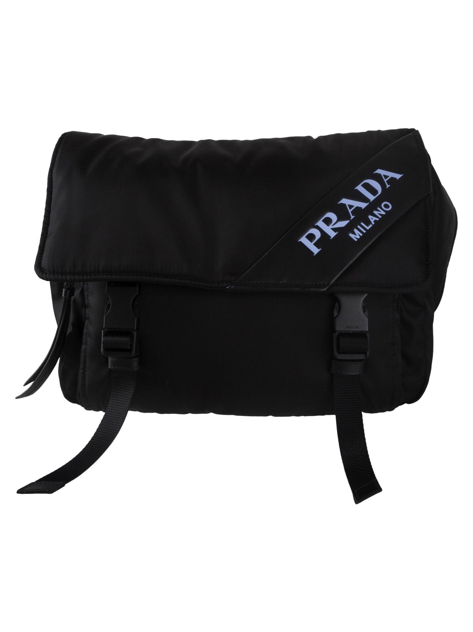 f3ec0acdea54 Prada Logo Belt Bag In Fnero