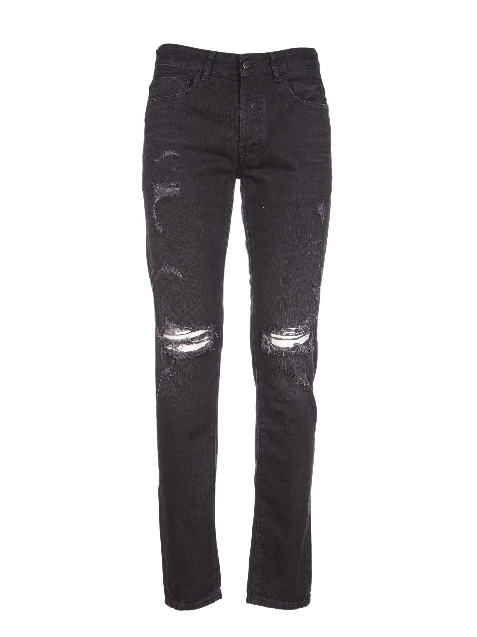 Marcelo Burlon Distressed Jeans 10537654