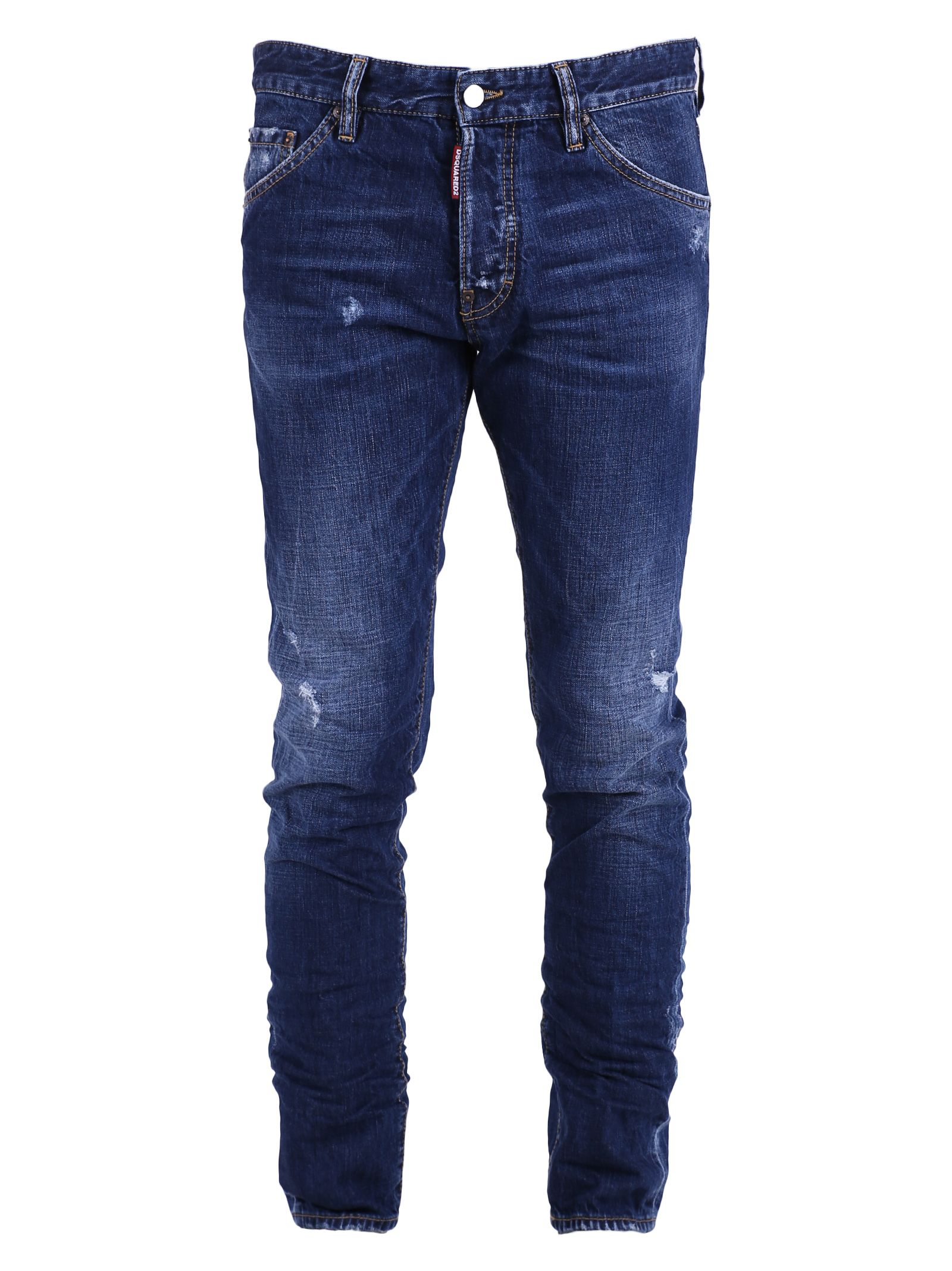 Blue Distressed Jeans 10521621