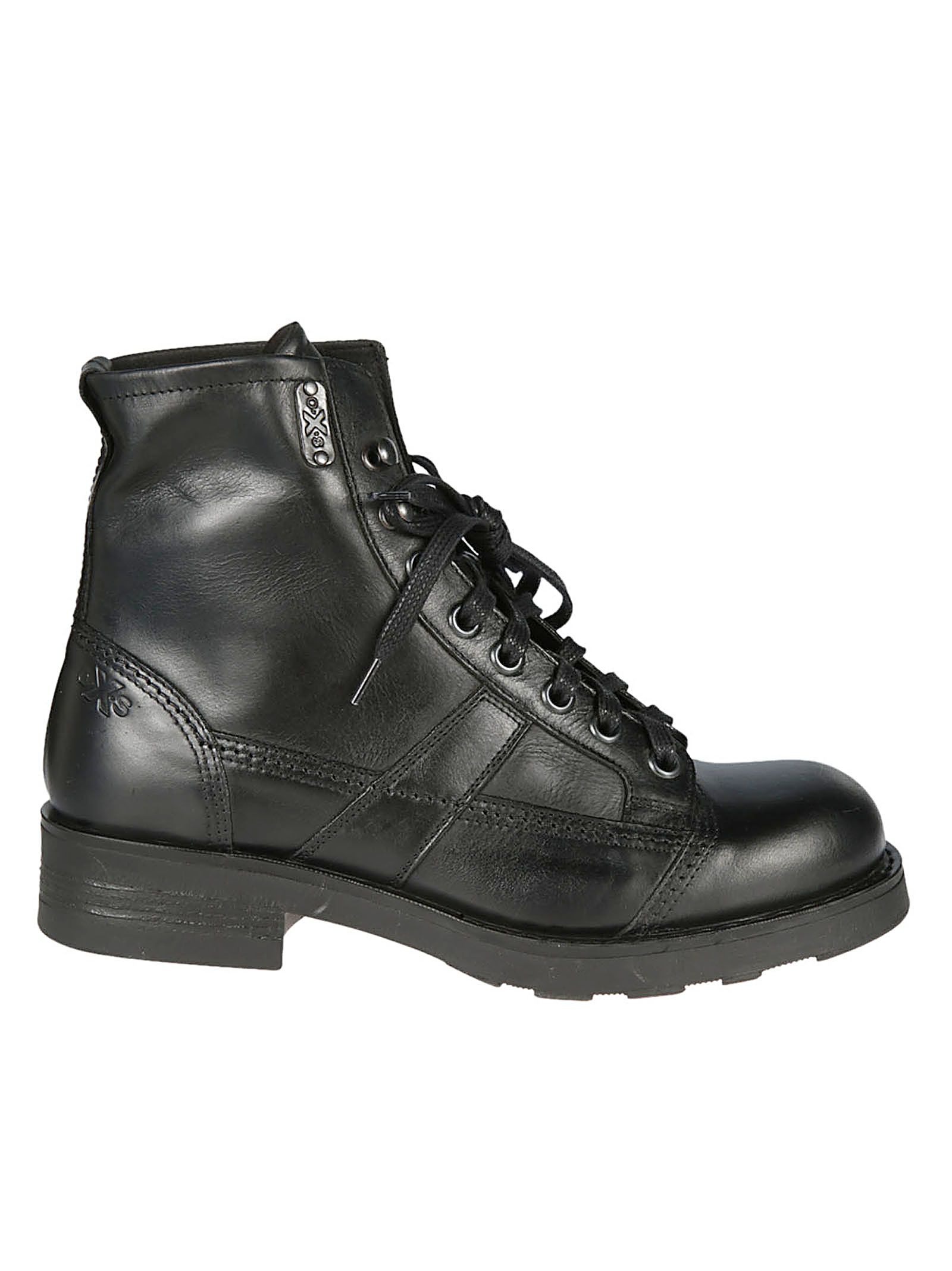 OXS Oxs John Men'S Lace-Up Boots in Nero