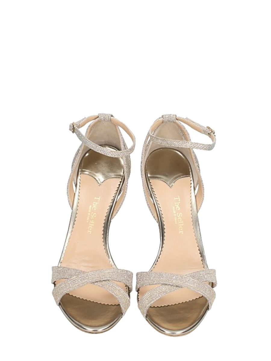 The Seller Lurex Sandals Buy Cheap Pay With Visa Pictures For Sale Clearance Get Authentic Outlet Get To Buy Sale Big Sale e18BTL50Fg