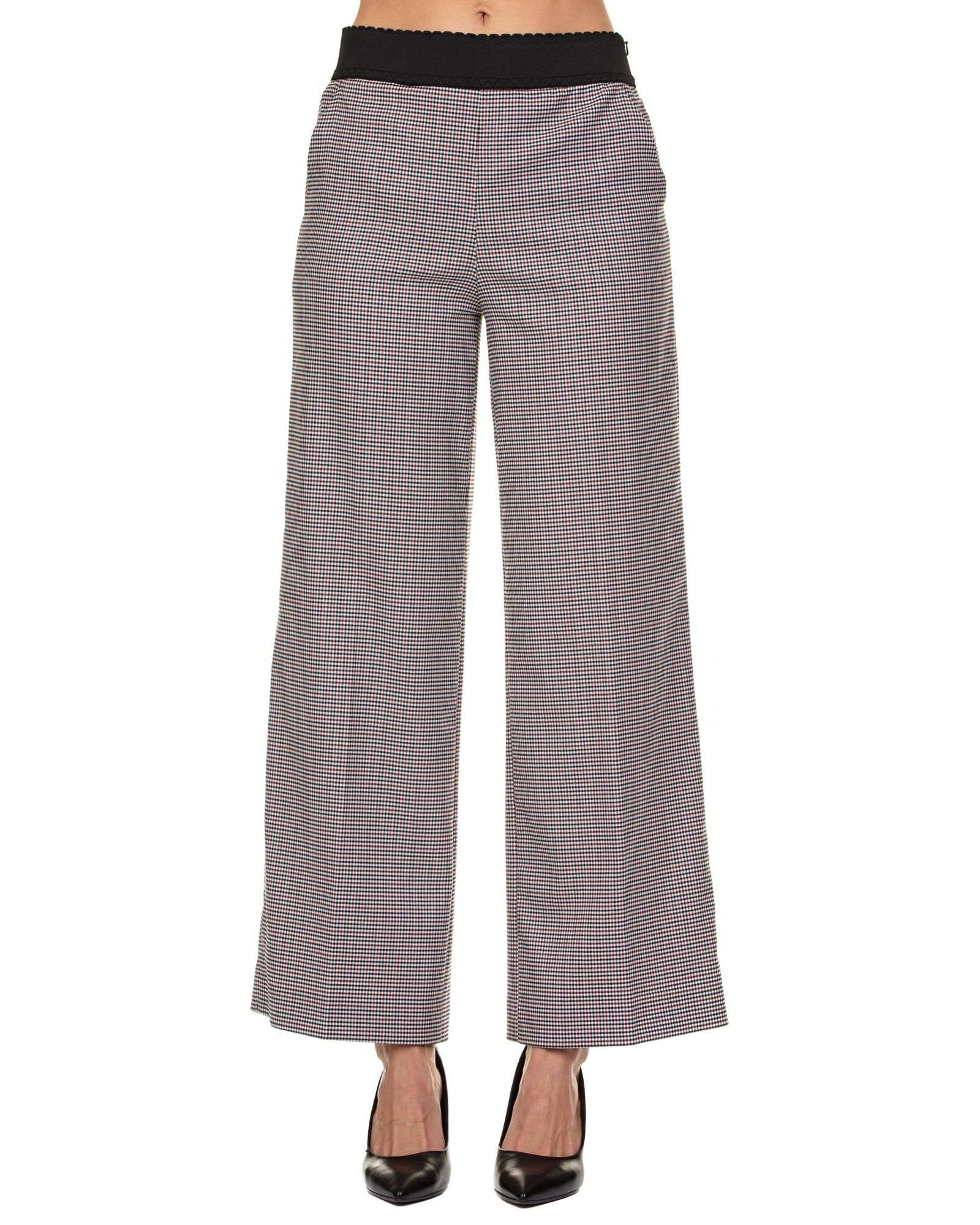 BOUTIQUE MOSCHINO VIRGIN WOOL BLEND STRETCH TROUSERS
