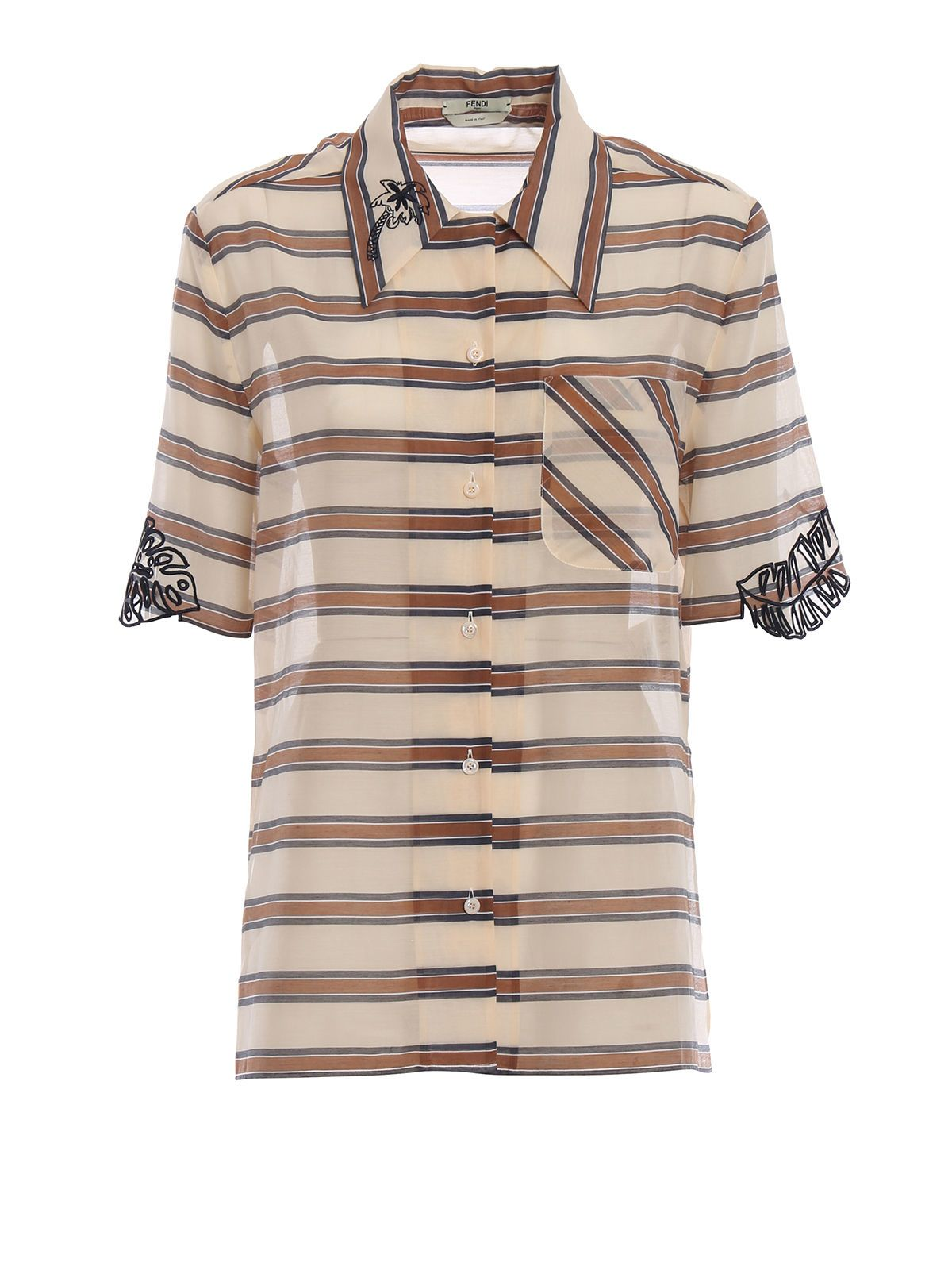Fendi Shaded Stripes Shirt 10577976