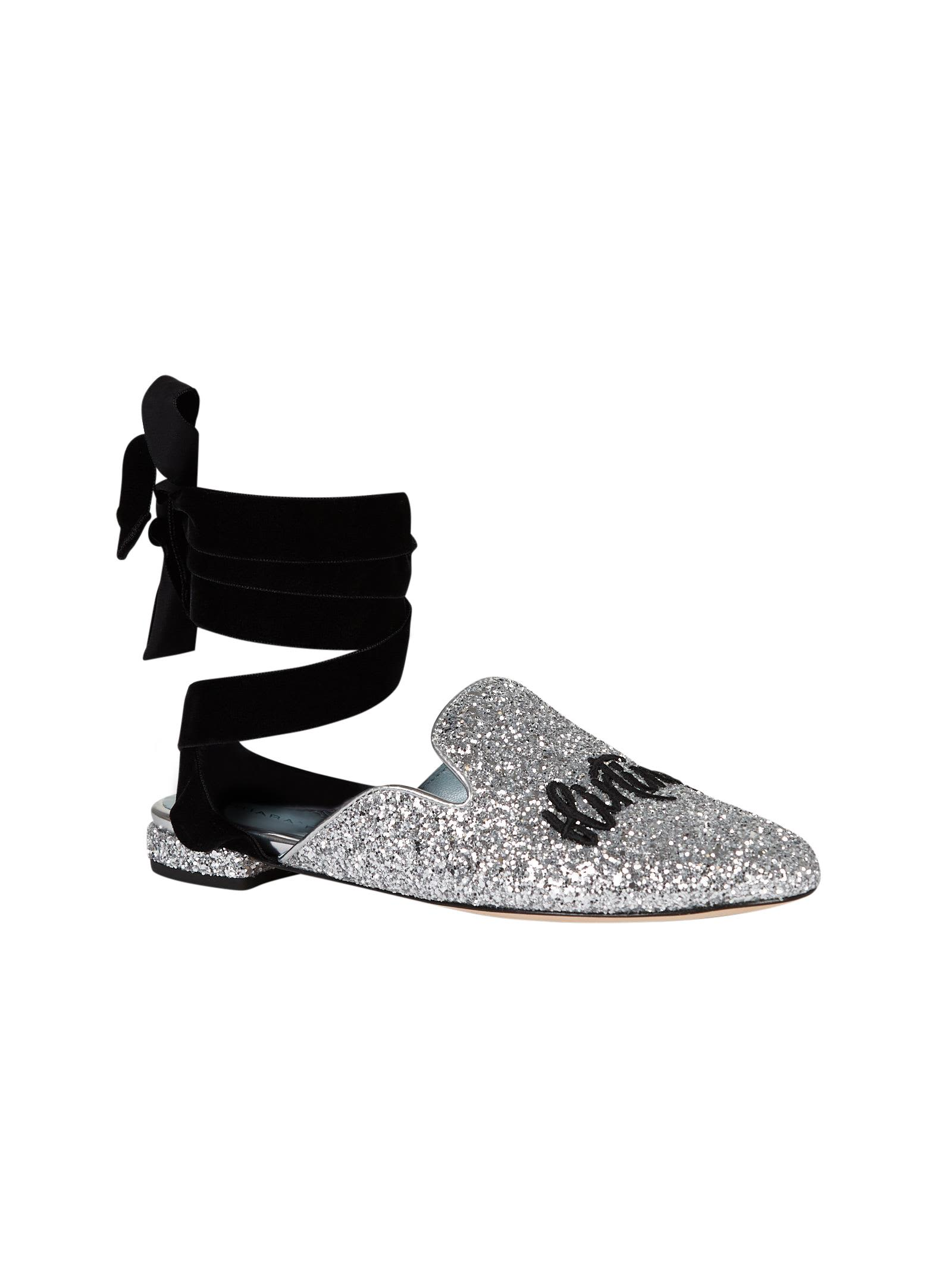 Chiara Ferragni Suited Lace-up Mules Real For Sale Extremely Free Shipping Pay With Visa Affordable For Sale Choice For Sale Yum0zVnAb