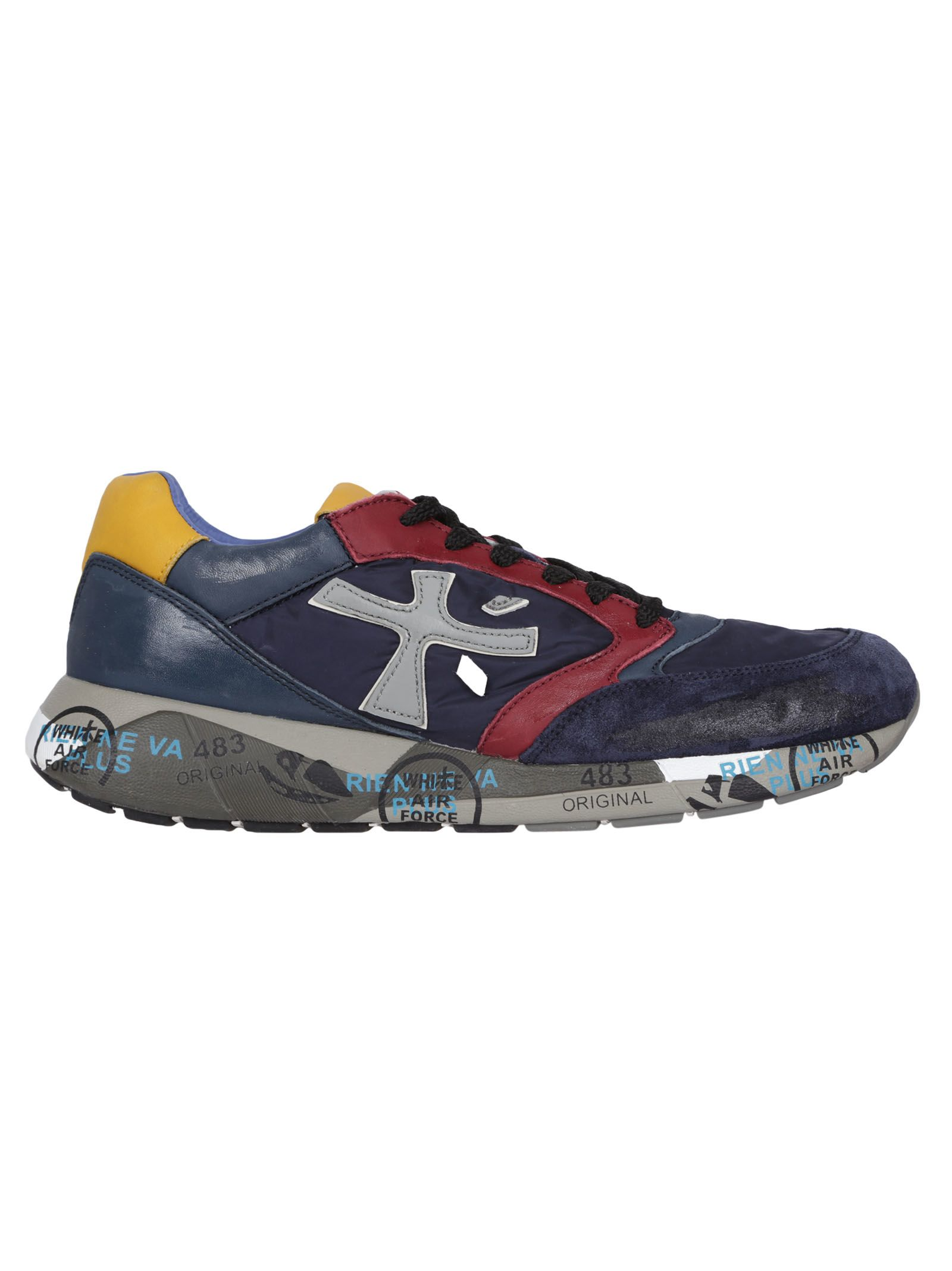 PREMIATA Vintage Effect Sneakers in Blue