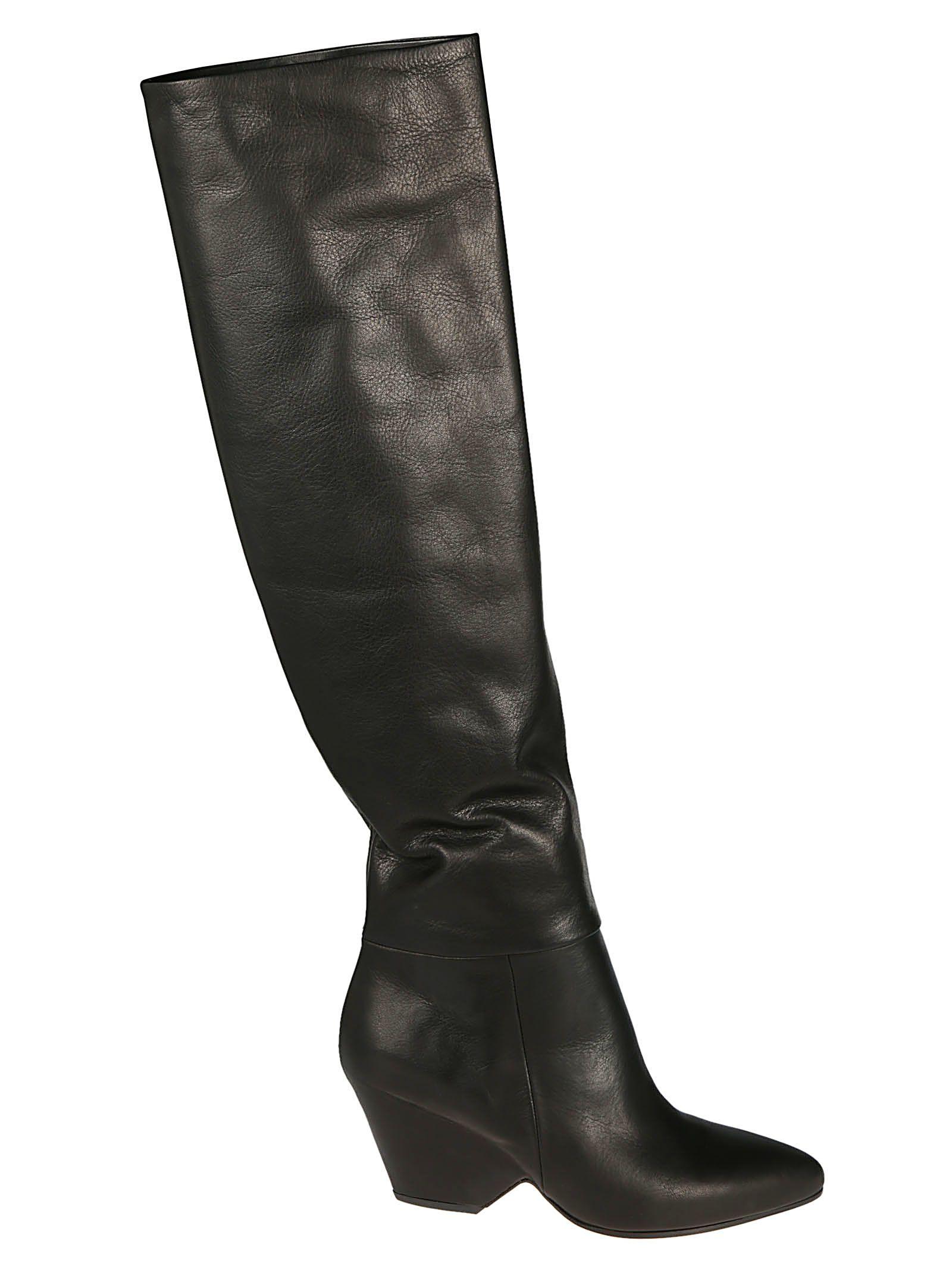 VIC MATIE Vic Matie' Cone Heel Boots in Nero