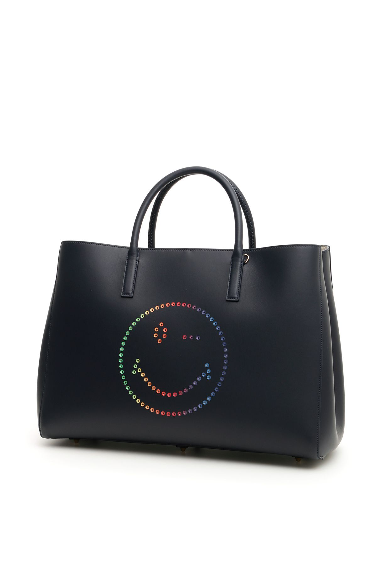 LARGE EBURY SHOPPER WITH MULTICOLOR SMILEY