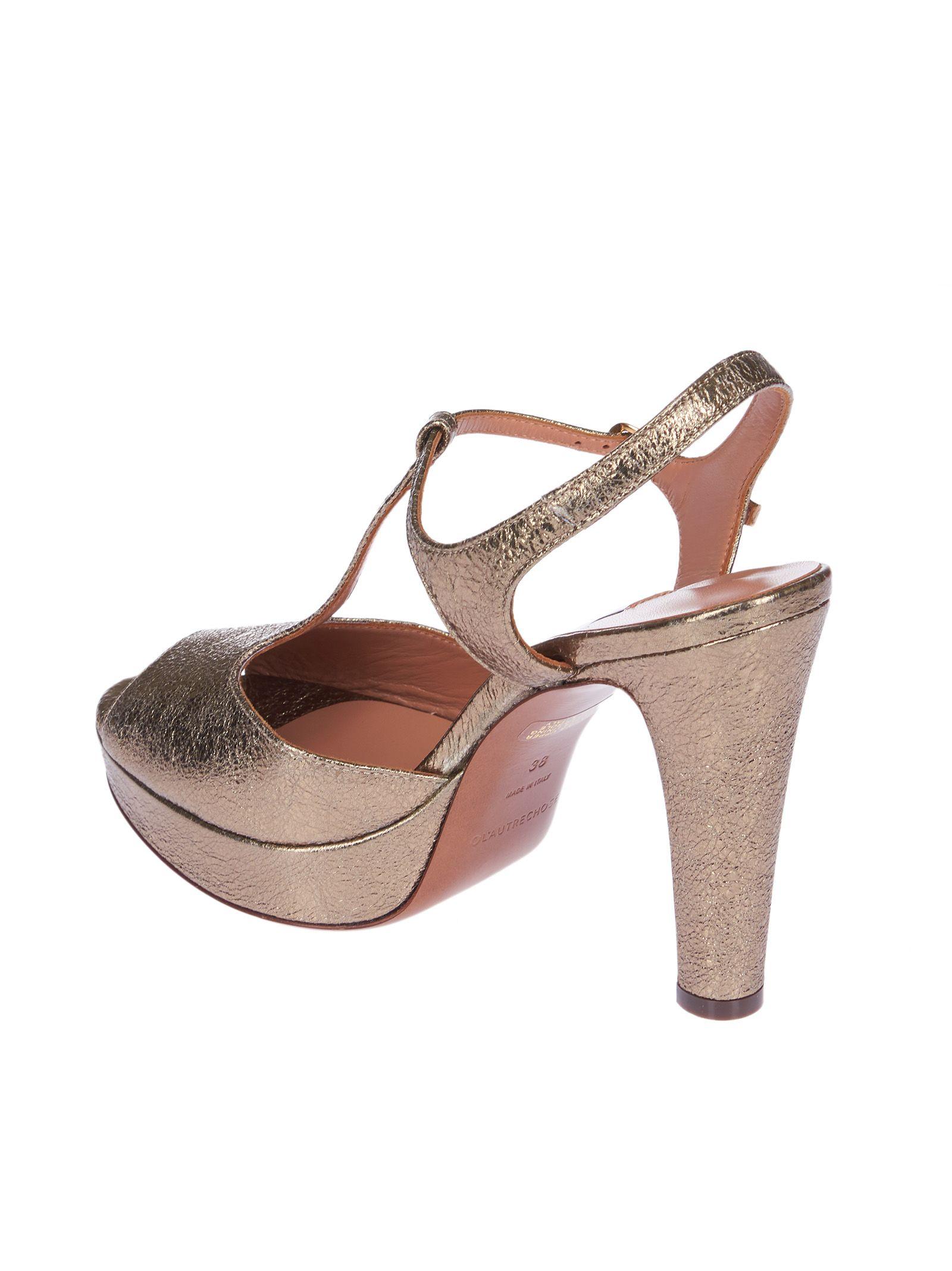 t-strap platform sandals - Pink & Purple L'autre Chose SVbZwB