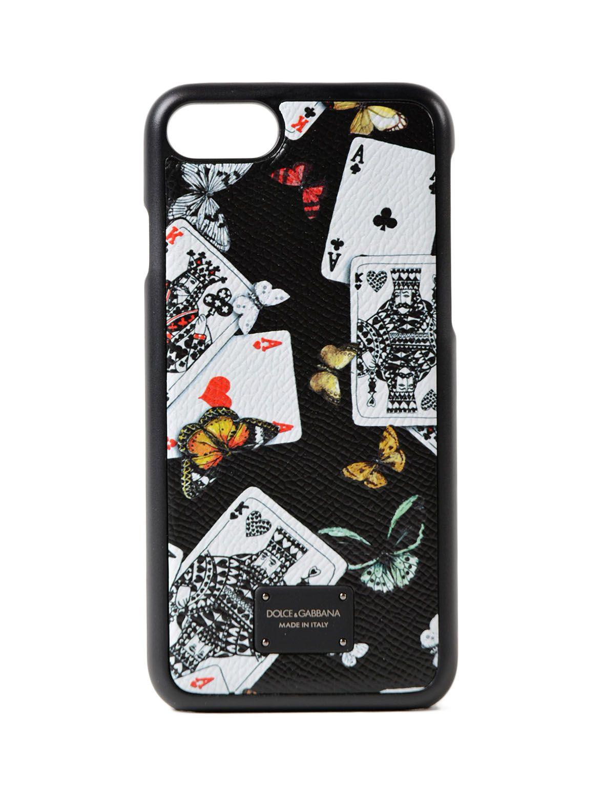 Dolce & Gabbana Phone Case 7 Cards Butterfl. Prt 10497601