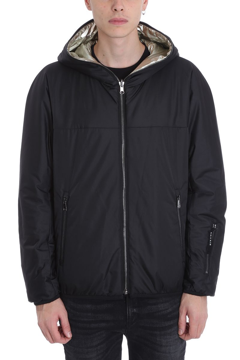 AHIRAIN Black Nylon Jacket