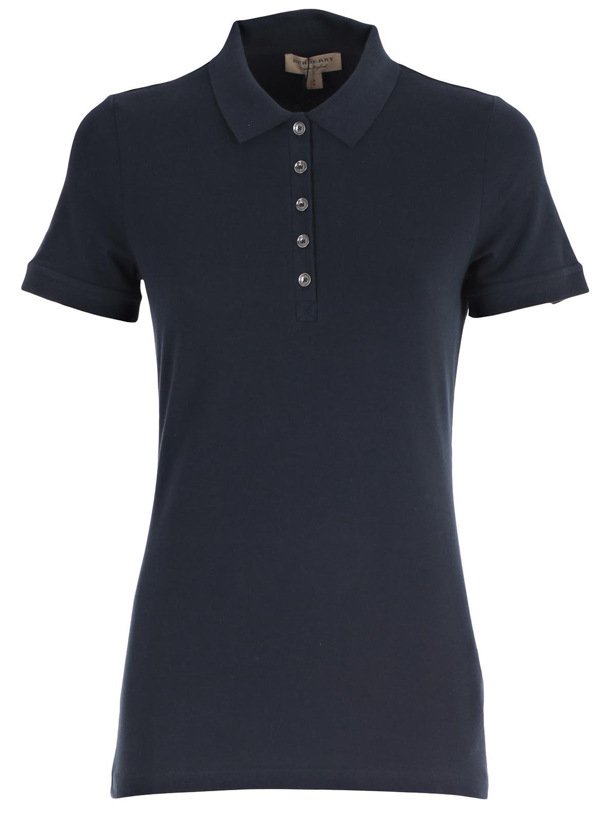blue burberry polo shirt