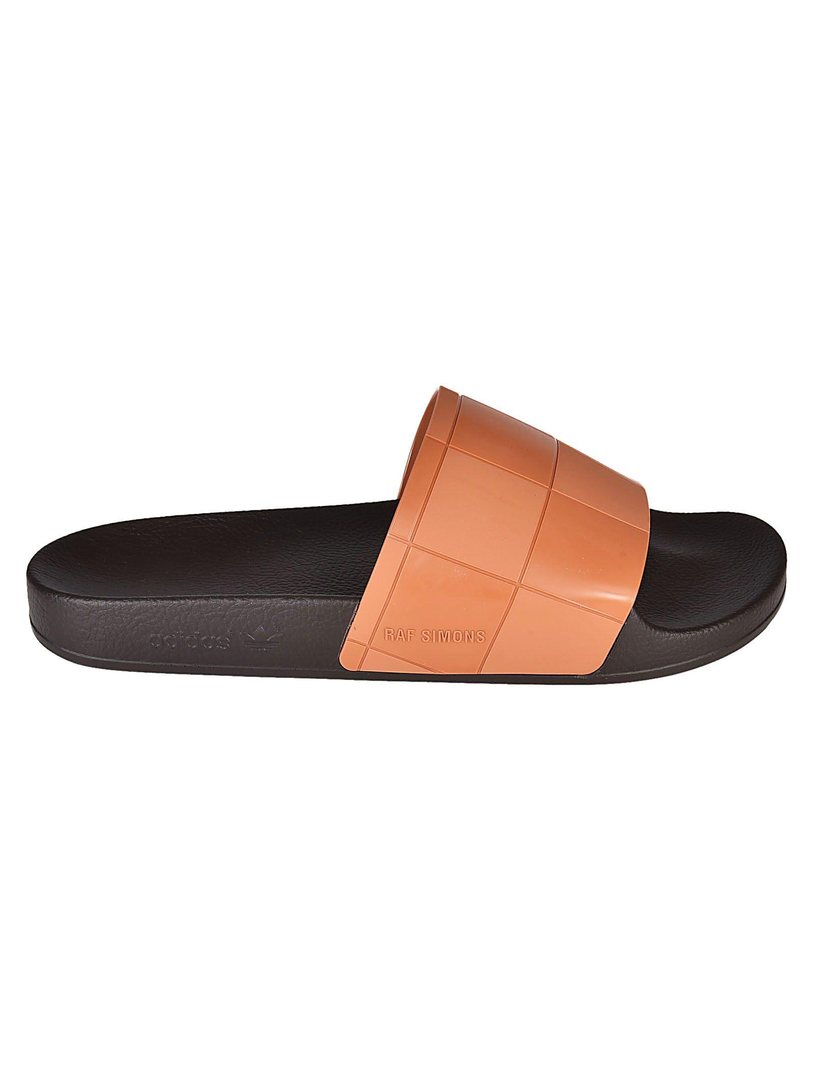 Adidas By Raf Simons Adilette Checkerboard Sliders 10538983