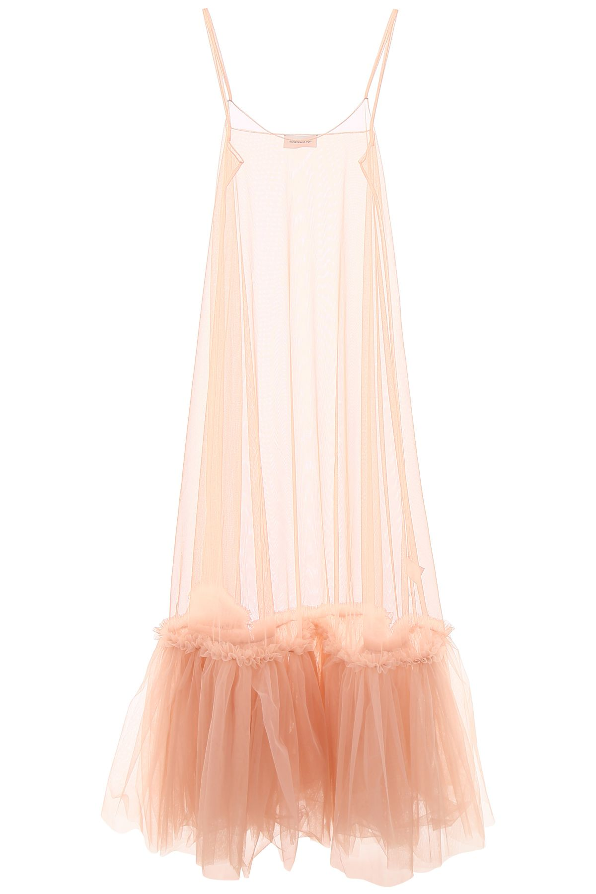 SCRAMBLED EGO Long Tulle Dress in Phard