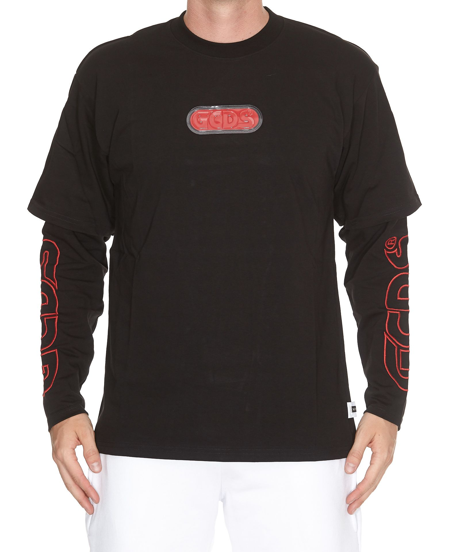 GCDS DOUBLE SLEEVES T-SHIRT