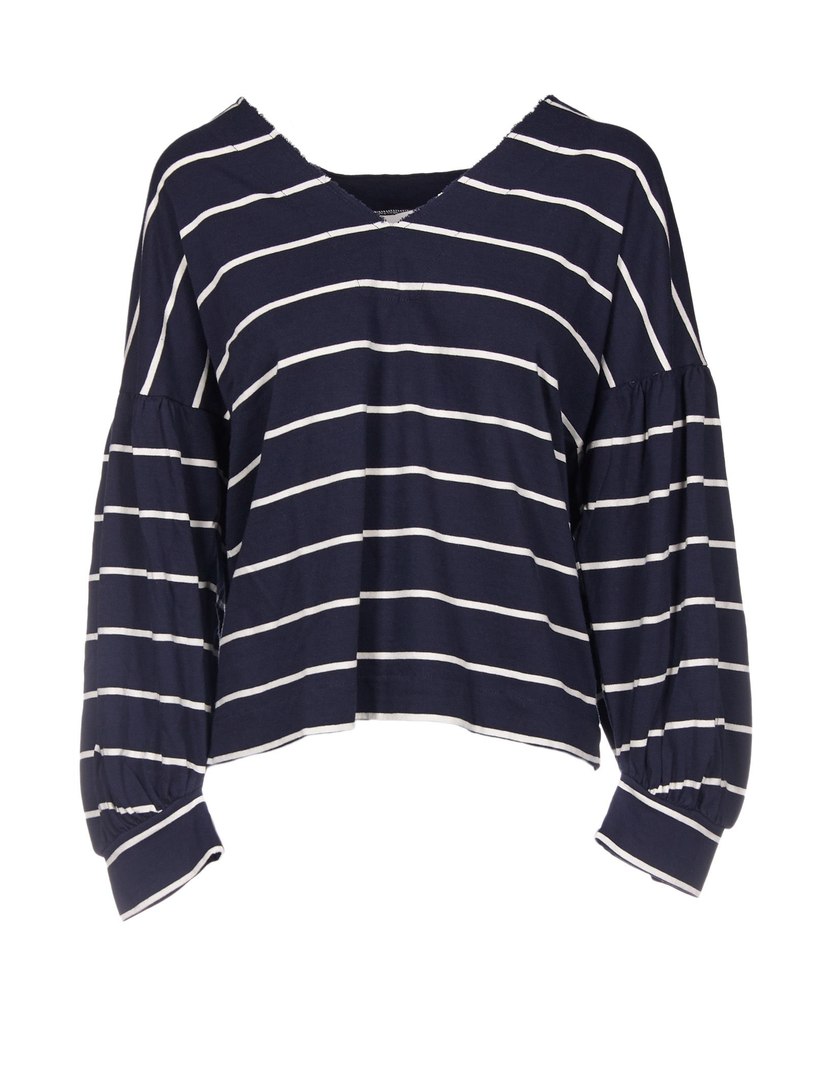 8pm female 8pm striped vneck longsleeved top
