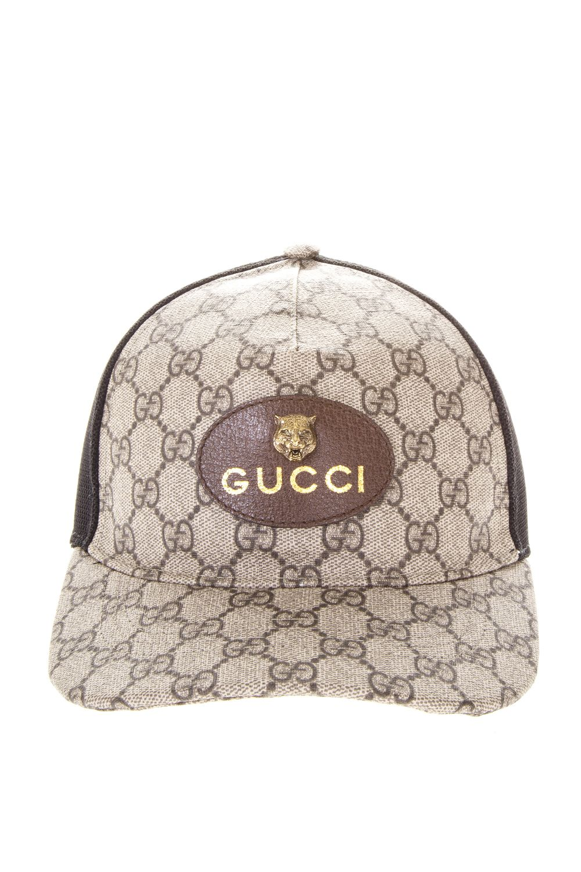 Tigers Print Gg Supreme Baseball Hat, Brown/Black