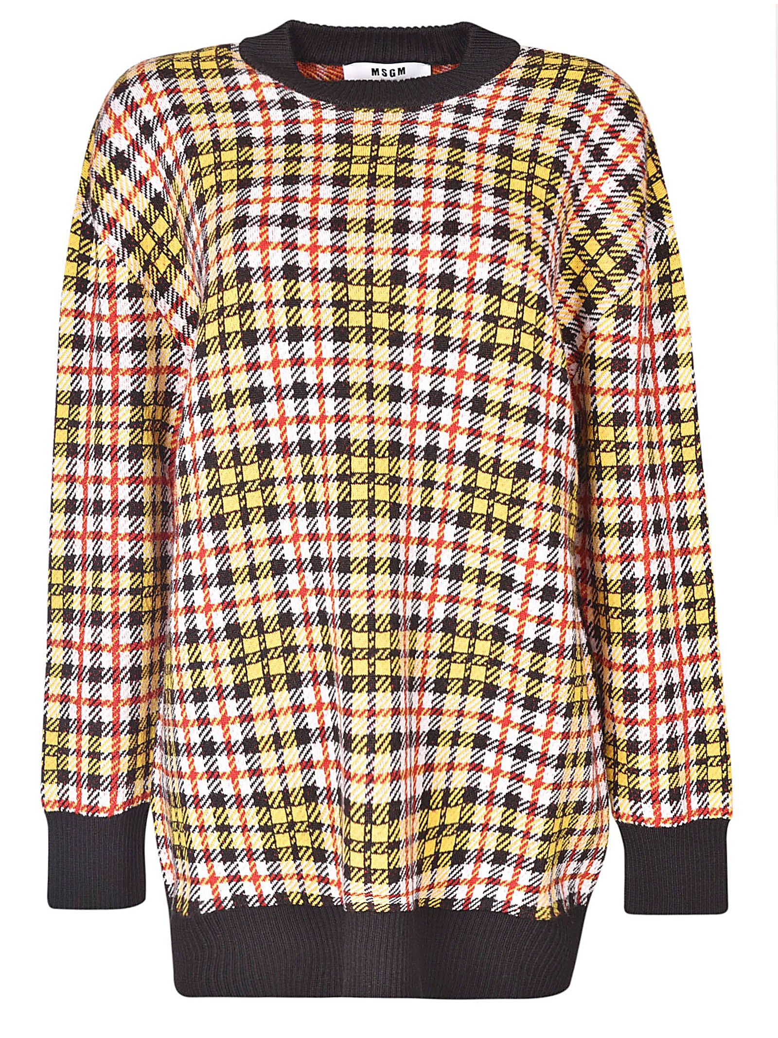 CHECKED SWEATER