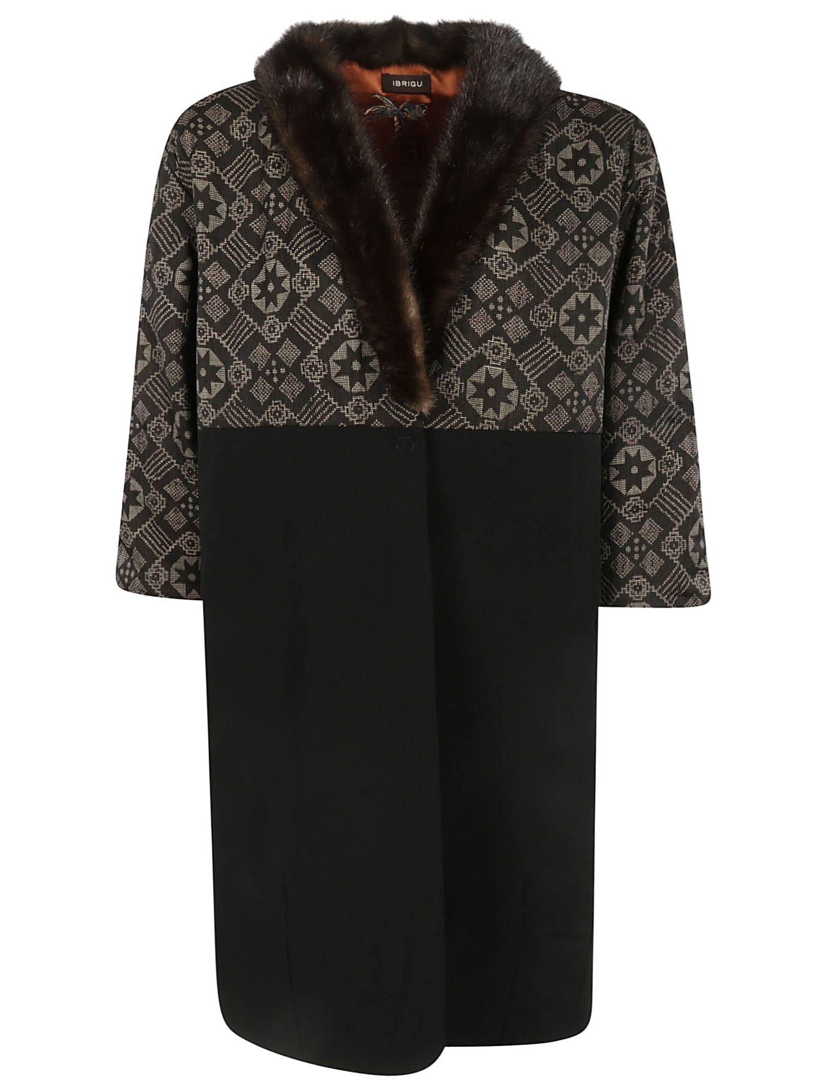 IBRIGU Fur Coat in Fantasy1
