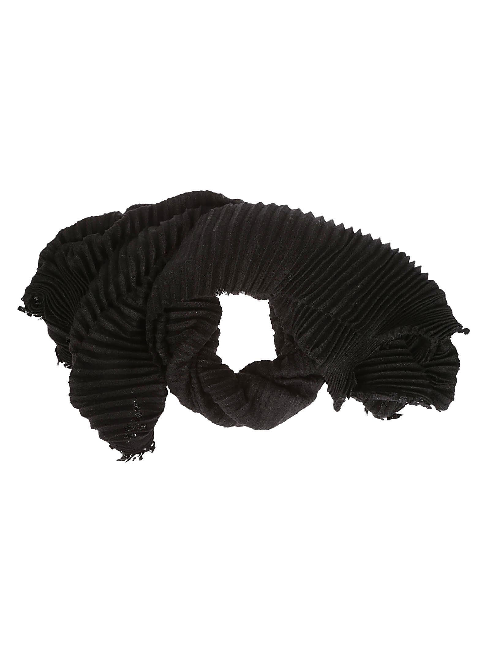DESTIN SURL Destin Ribbed Detail Scarf in Black