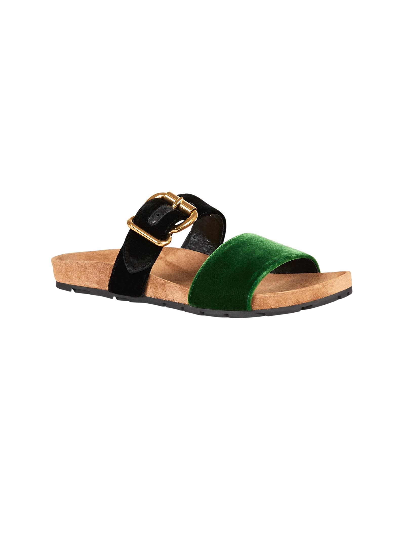Prada Buckled Flat Sandals Footlocker Finishline Sale Websites Collections Cheap Price bEpwIPGEiL