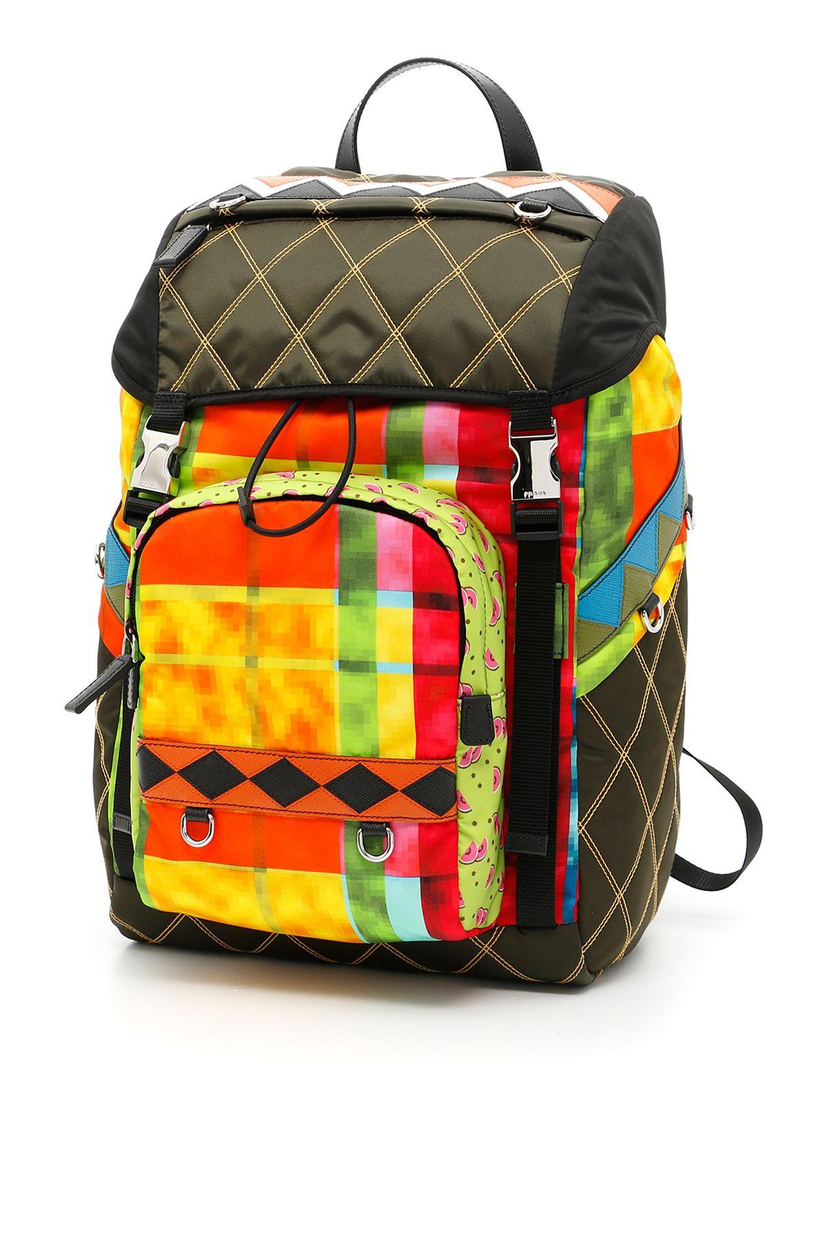 Prada Mens Nylon Double Buckle Backpack Black- Fenix Toulouse Handball 2267a7262eff2