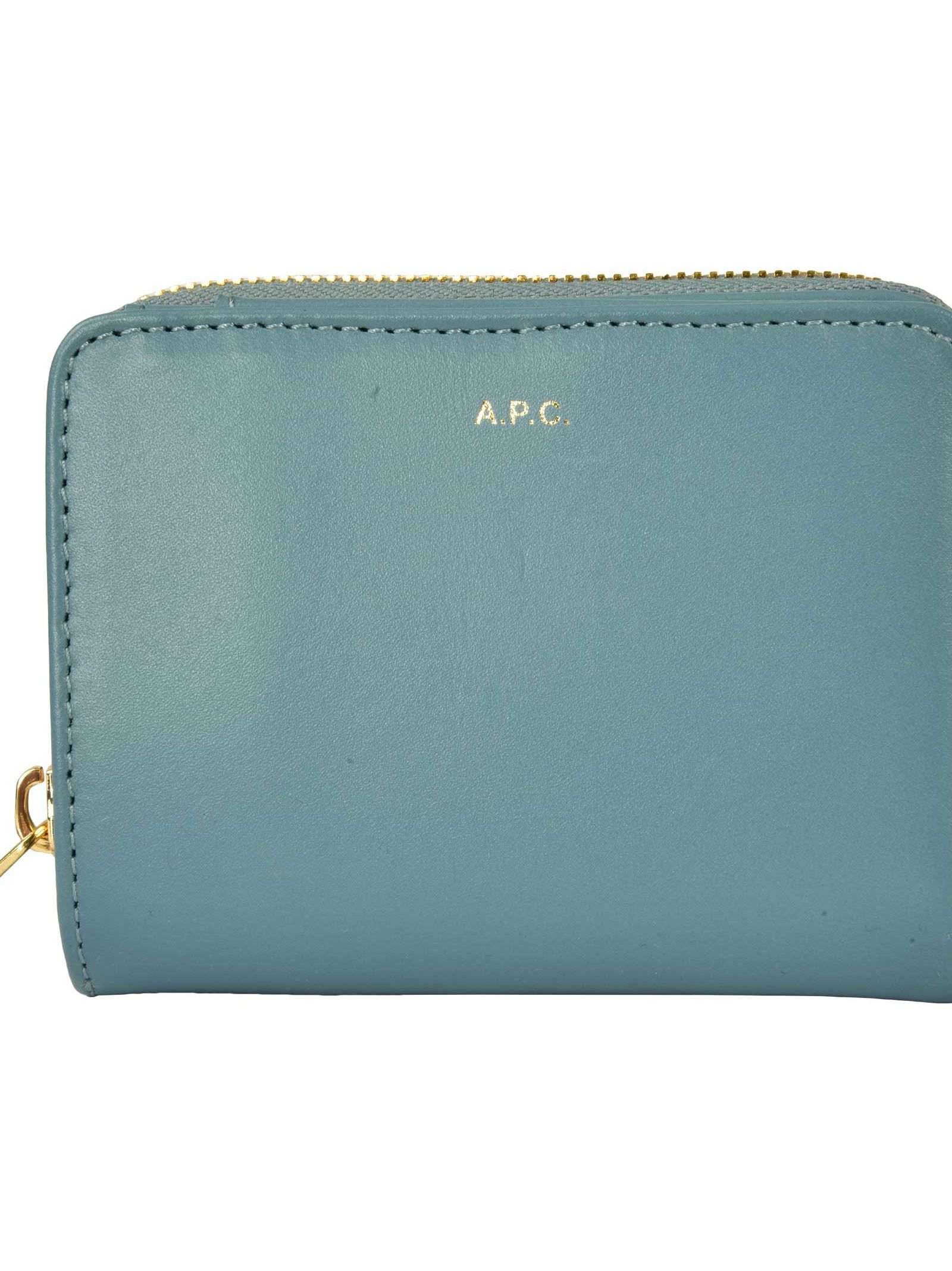 A.P.C. Compact Zip Wallet, Iaa Bleu