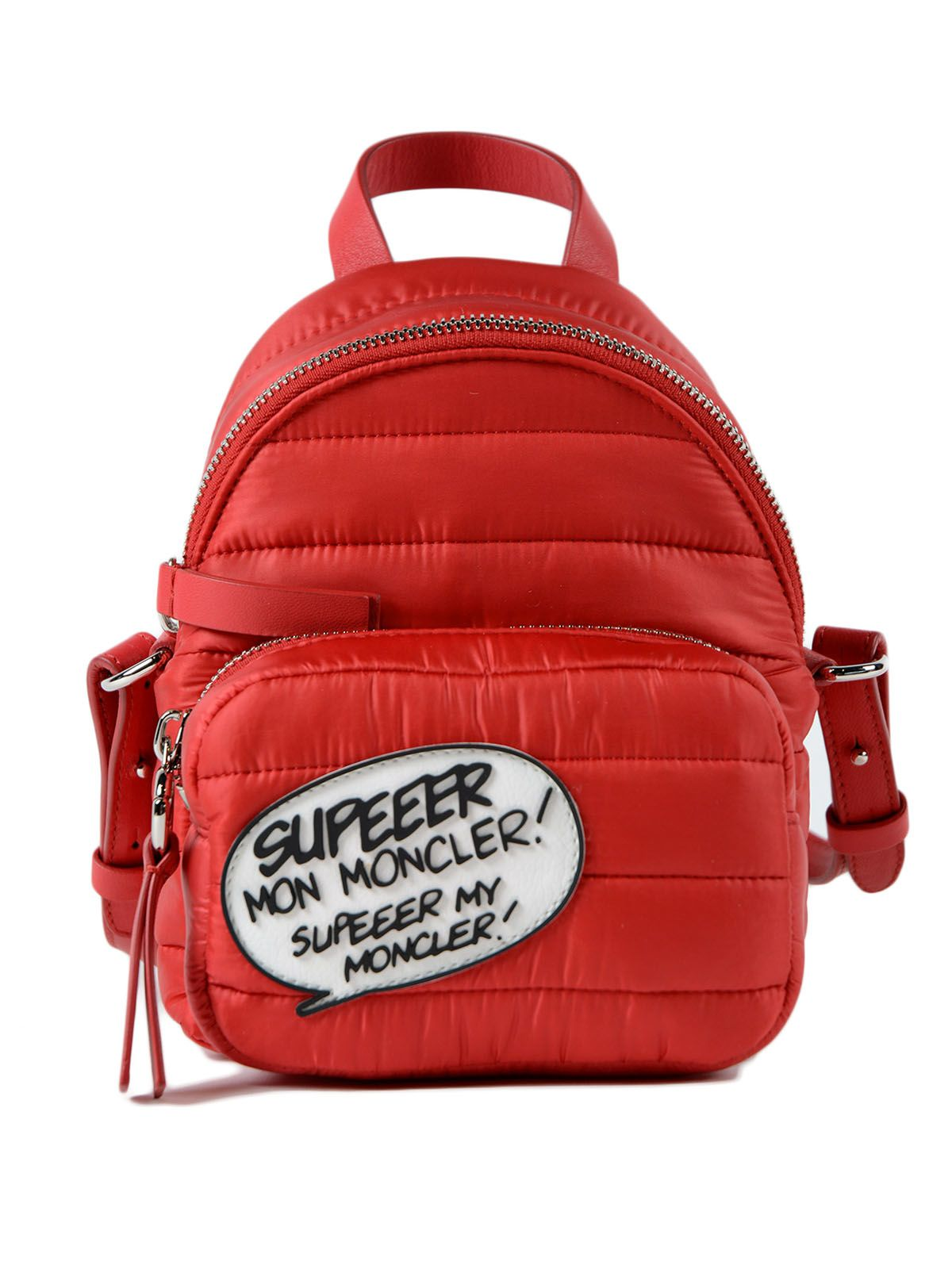 Backpack for Women On Sale, Red, Nylon, 2017, one size Moncler