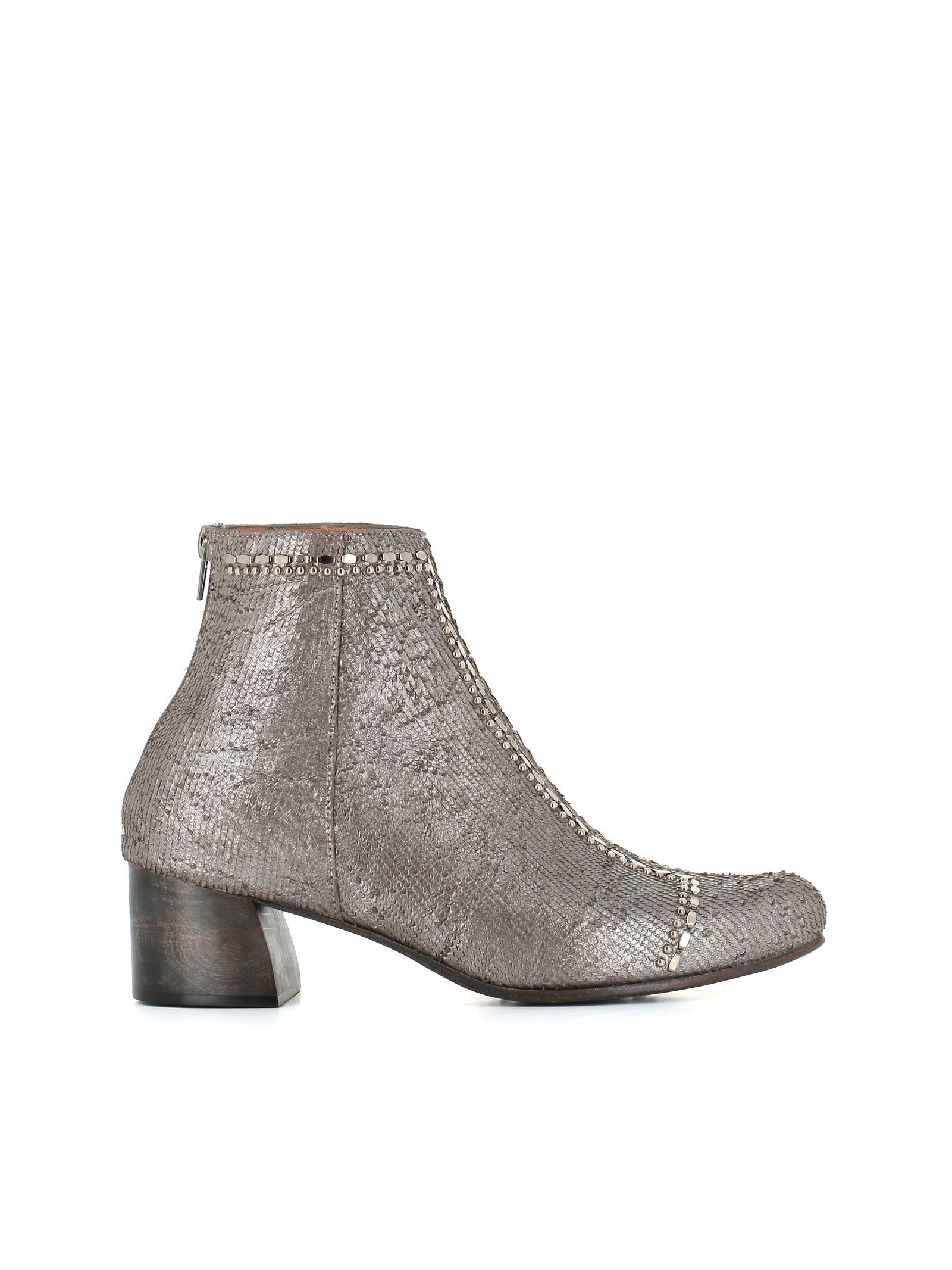 "CALLEEN CORDERO Boots ""Blaze"" in Silver"