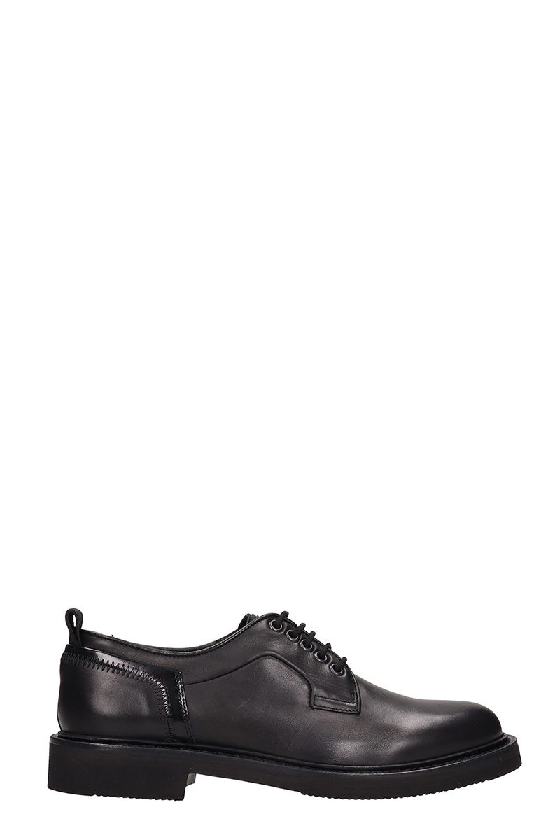 BRUNO BORDESE Black Leather Laces