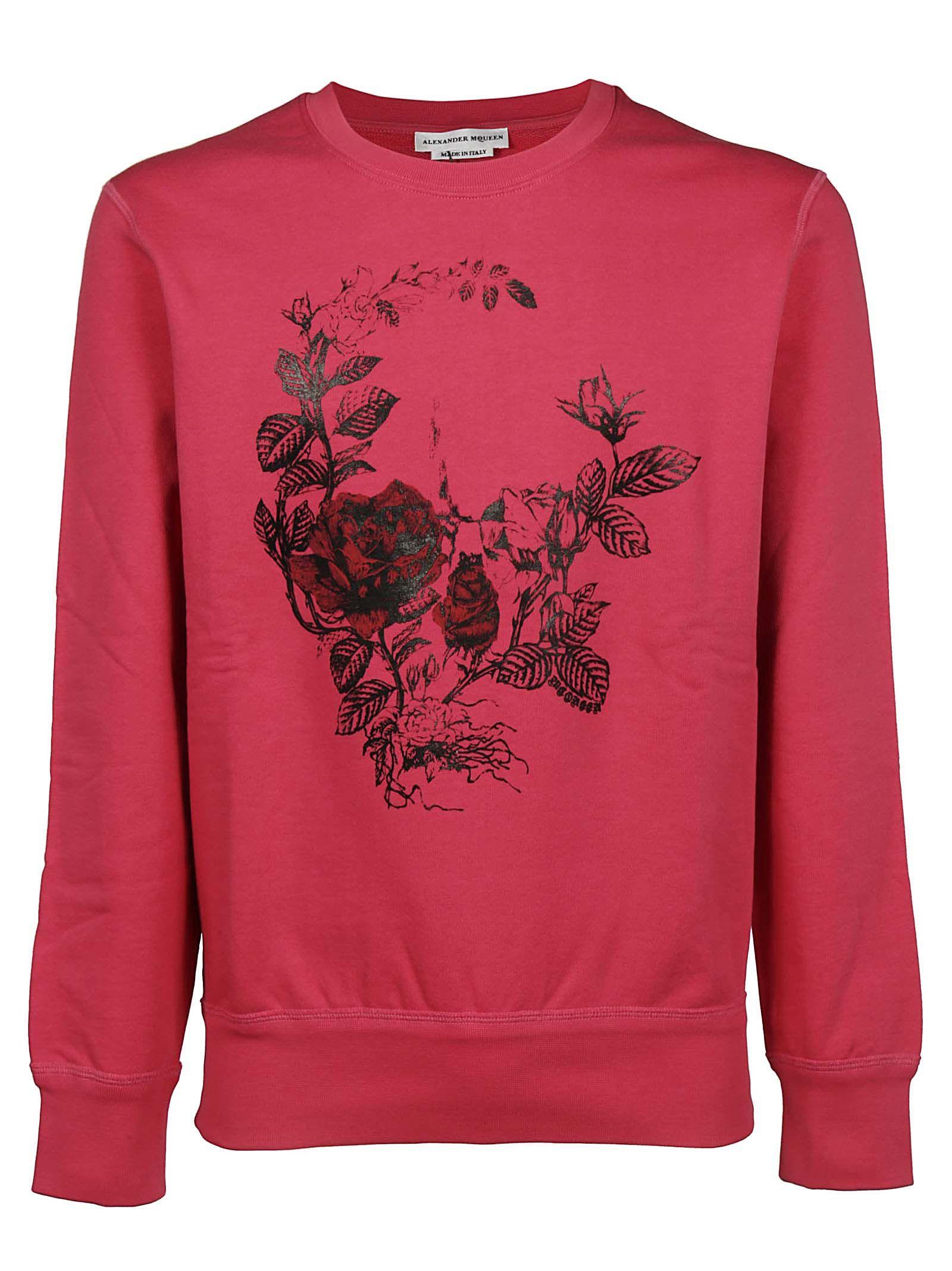 Alexander Mcqueen Rose Skull Sweatshirt