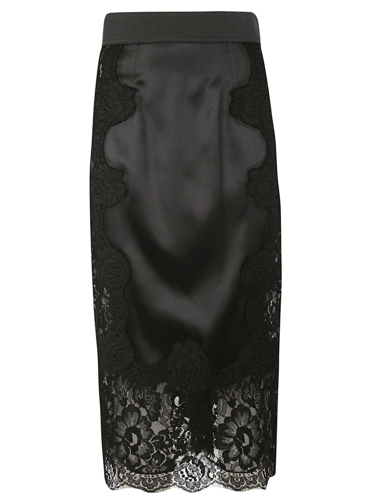 Dolce & Gabbana Lace Paneled Skirt