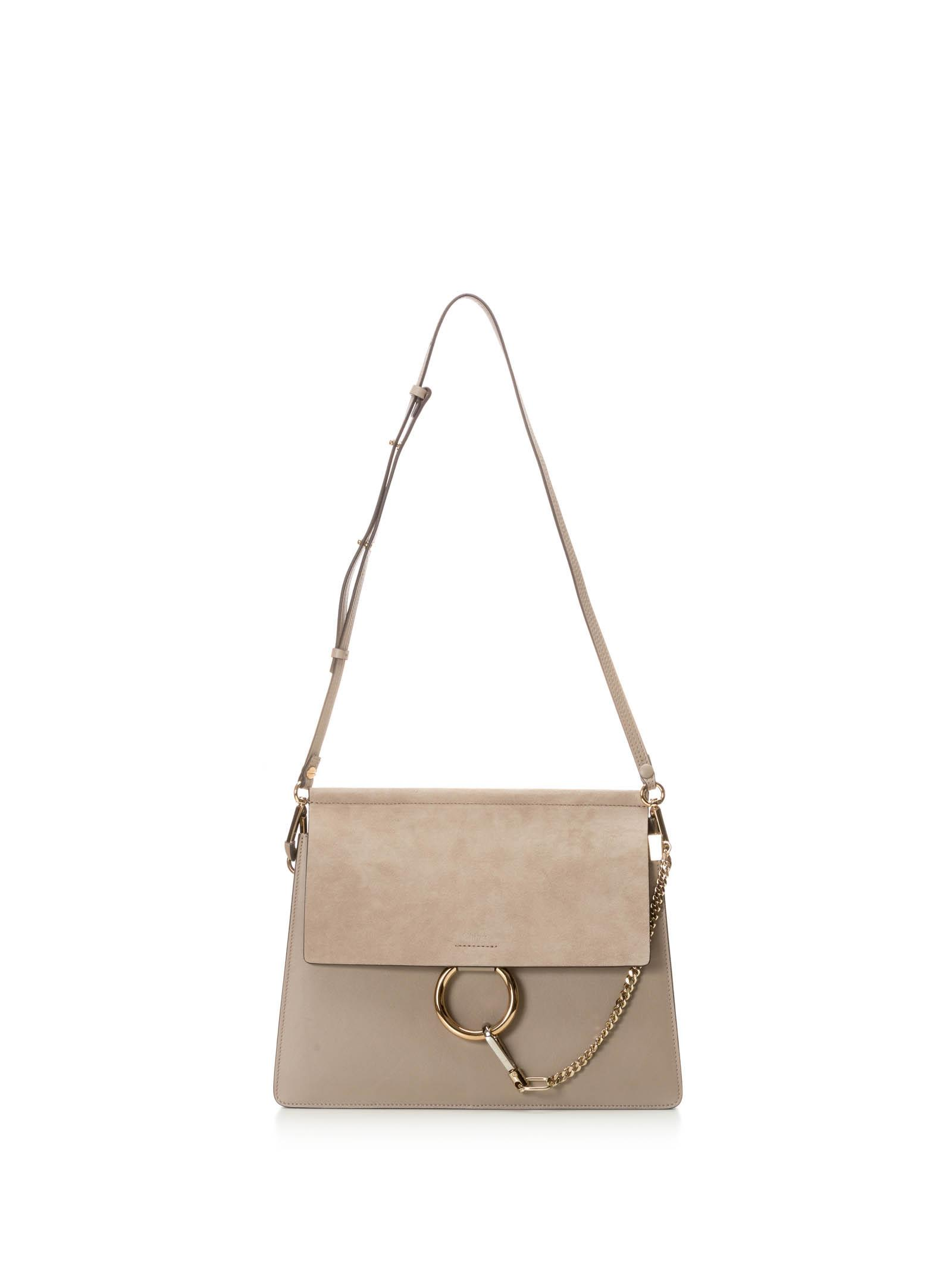 CHLOÉ CHLOE BEIGE FAYE SHOULDER BAG