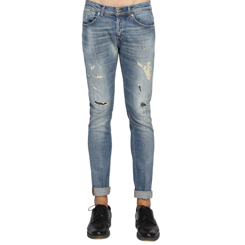 DONDUP Dondup Stonewashed Jeans - Blue