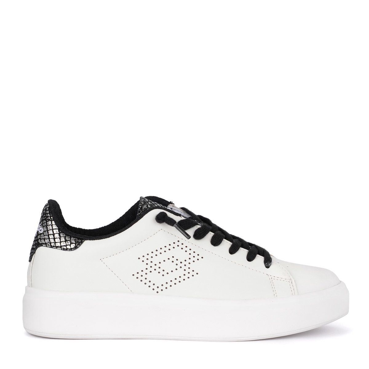 LOTTO LEGGENDA Lotto Impressions White Leather Sneaker in Bianco