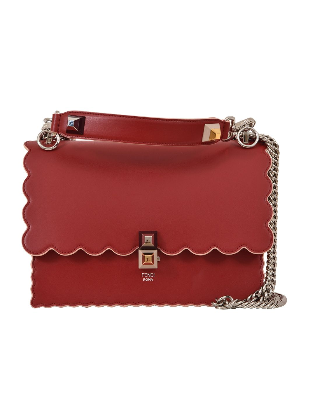 FENDI RED KAN I CROSSBODY BAG